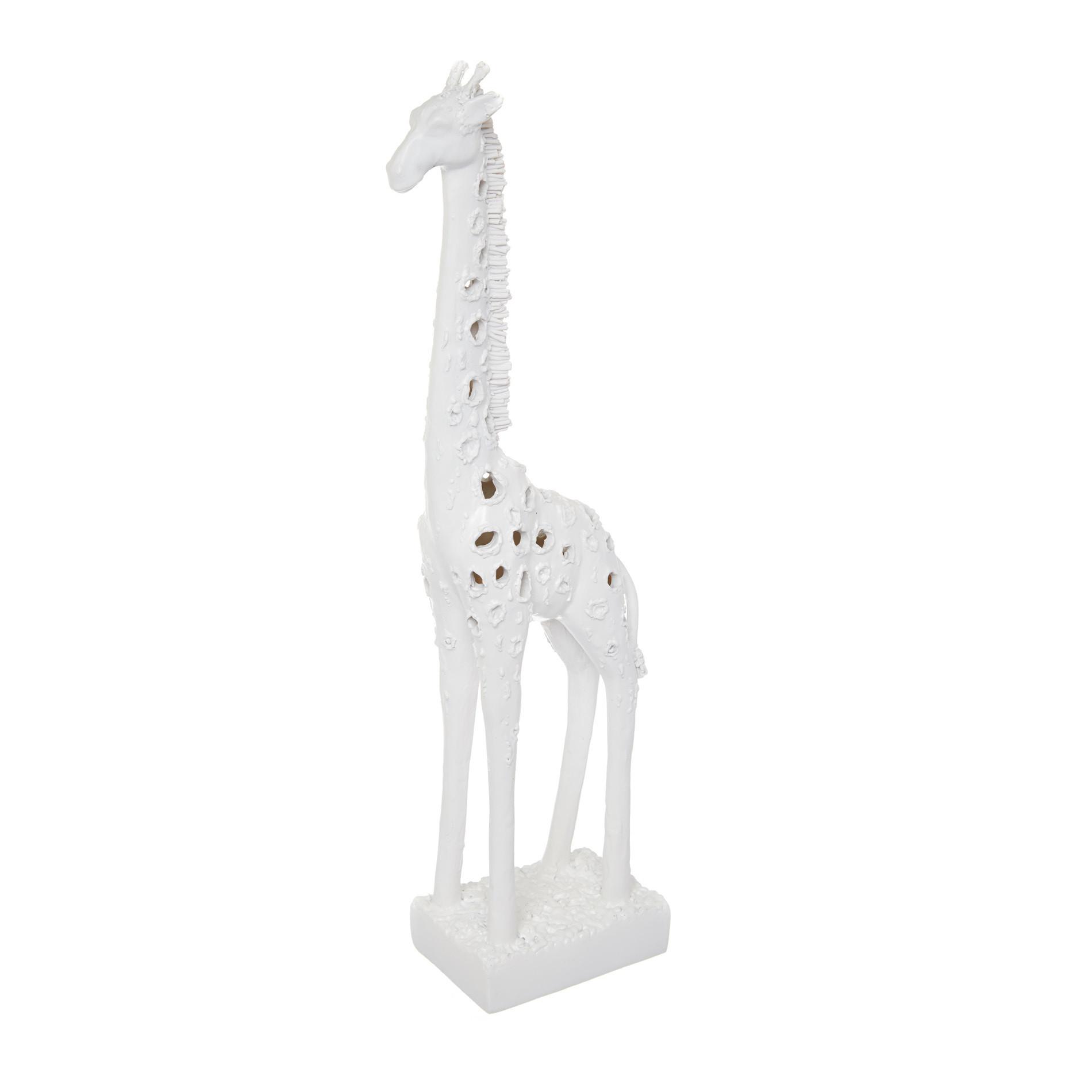 Giraffa decorativa rifinita a mano, Bianco, large image number 0