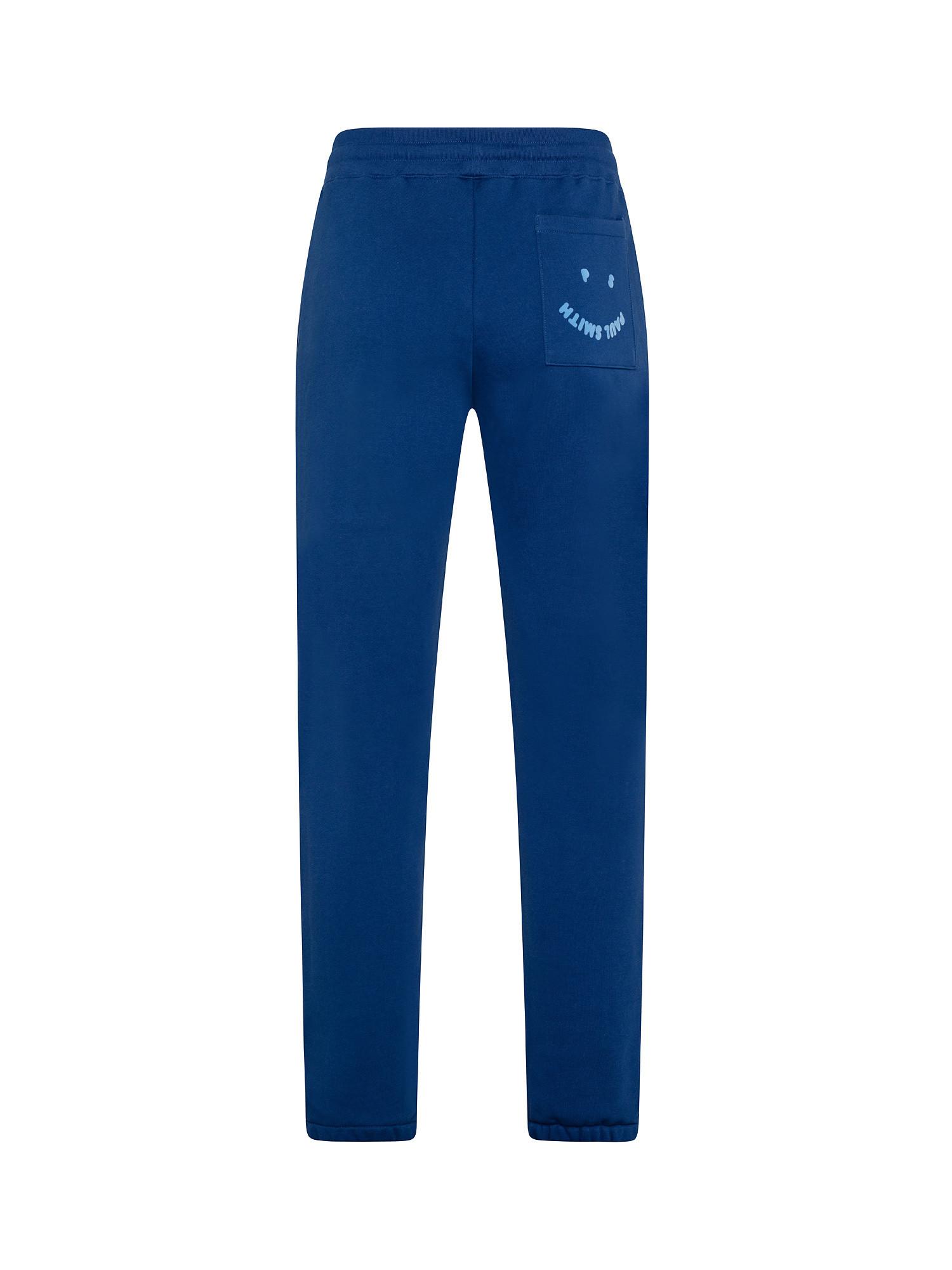 Pantaloni uomo tuta stampa 'Happy', Blu, large image number 1