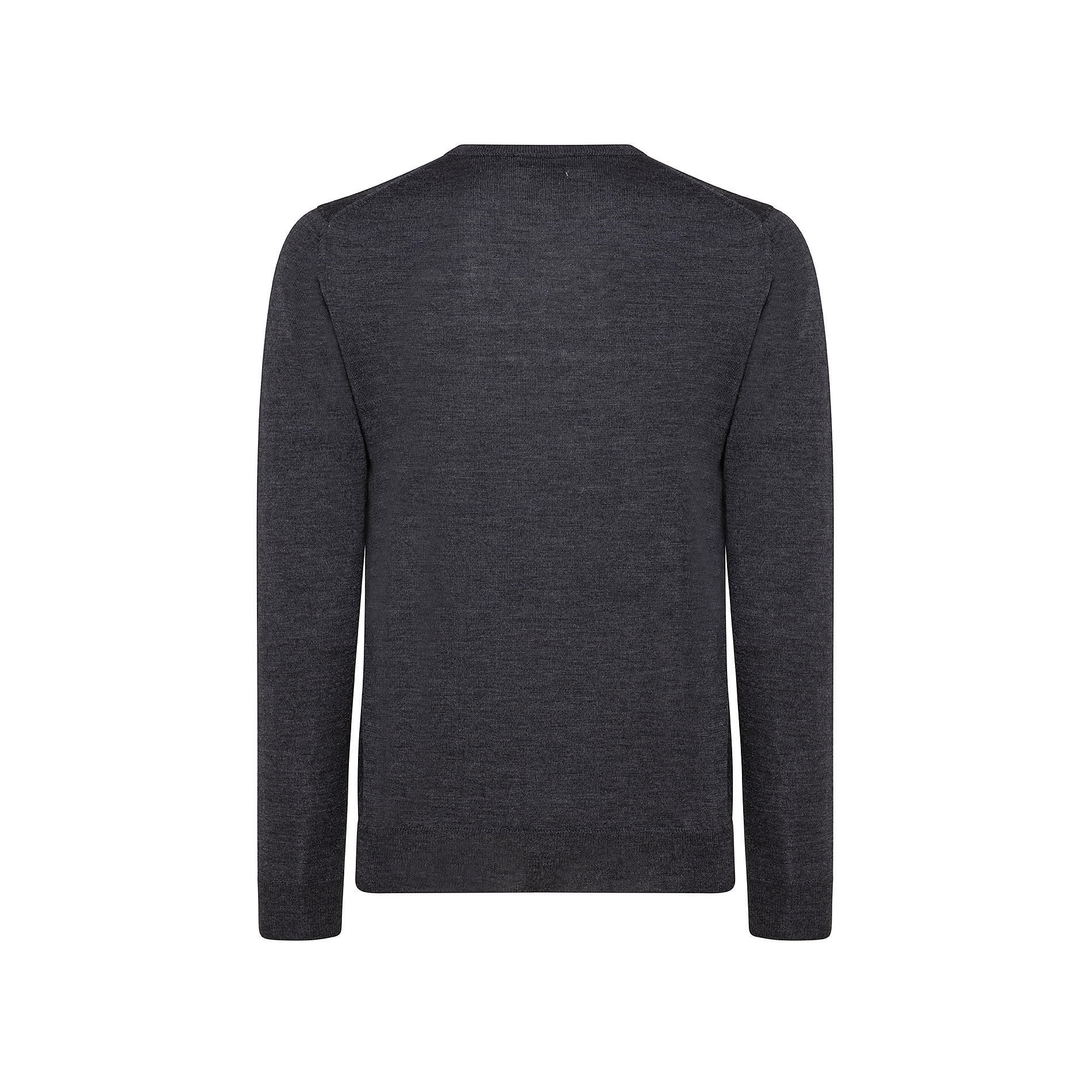 Pullover lana merinos extrafine scollo a V, Grigio chiaro, large image number 1