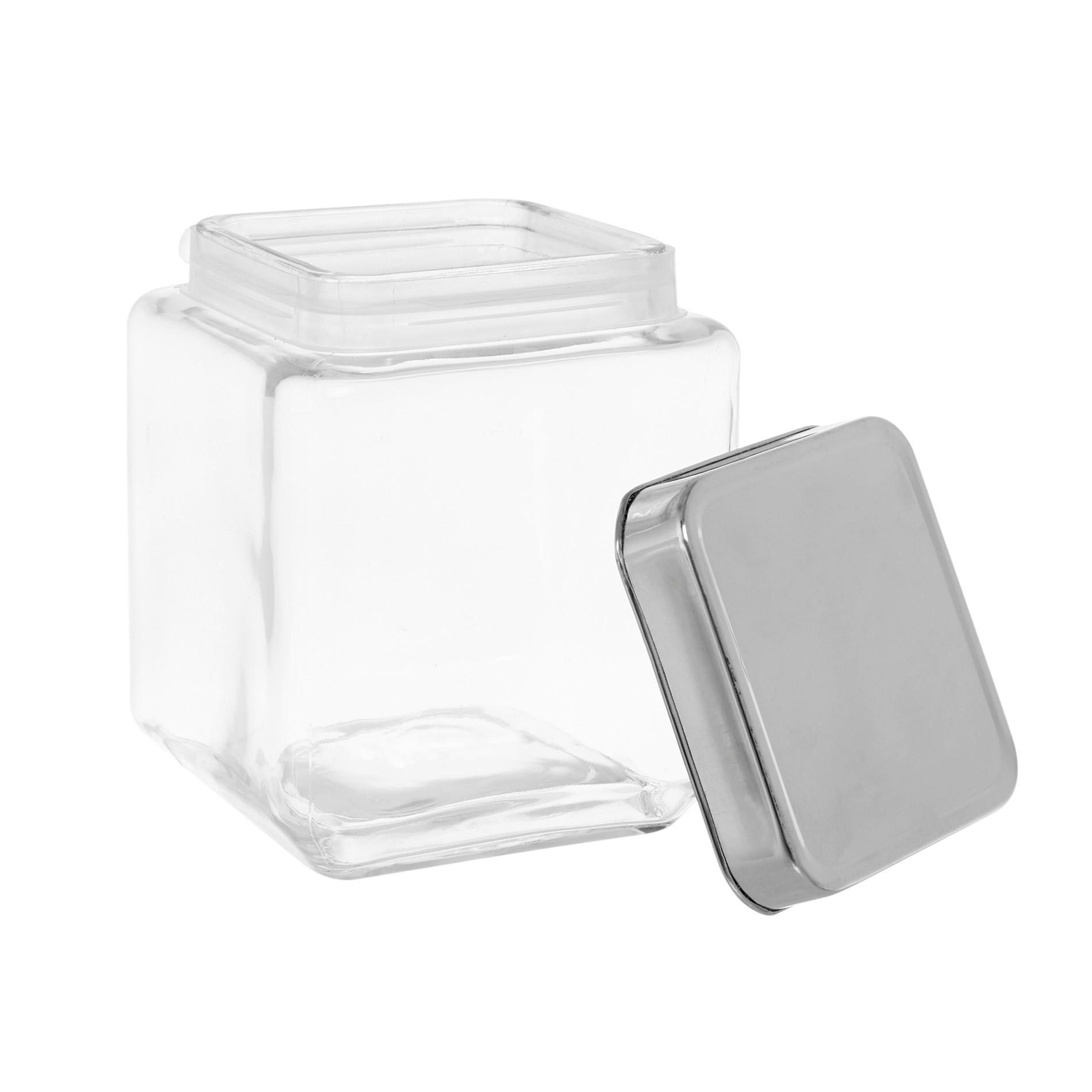 Barattolo vetro tappo inox 1.2Lt, Trasparente, large image number 1