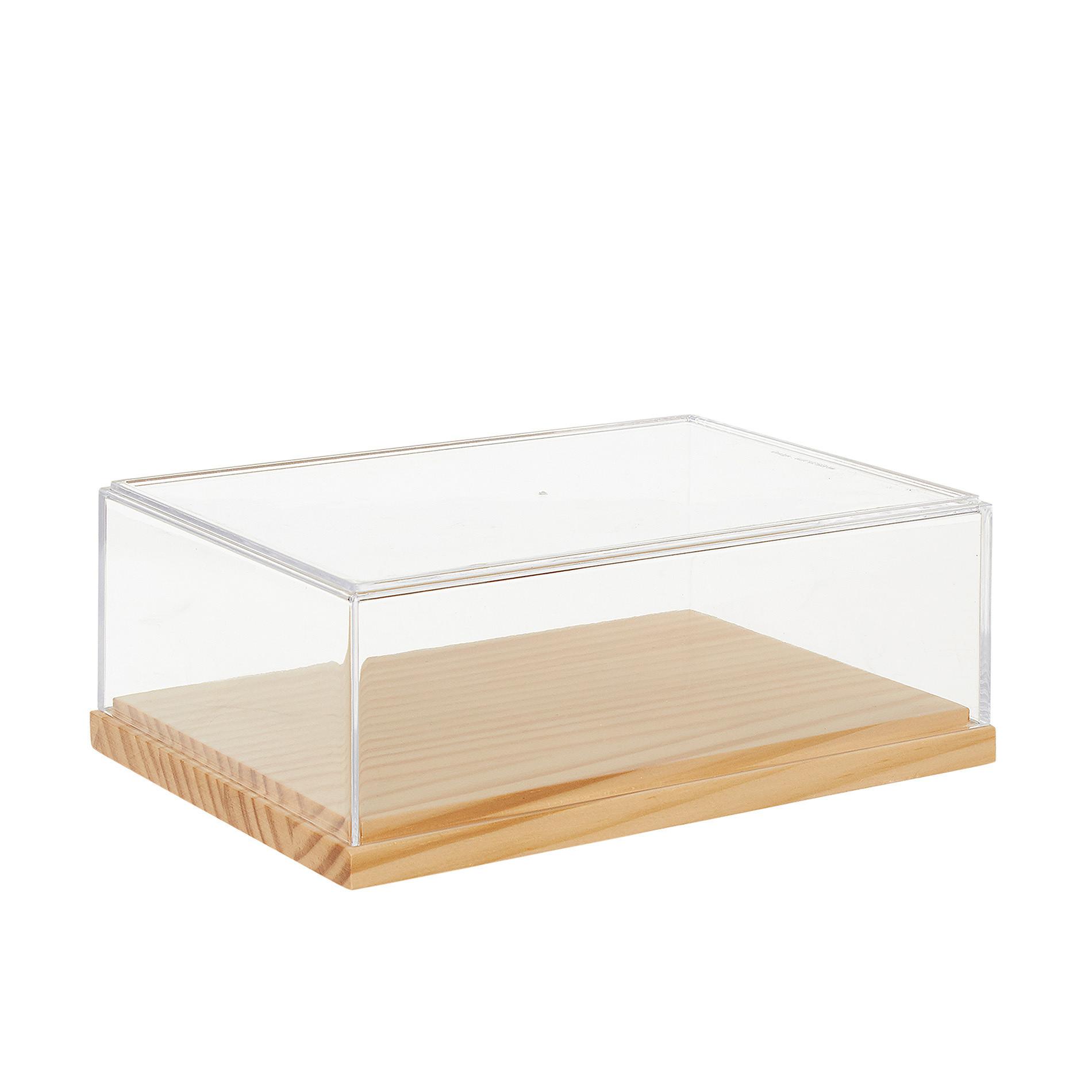 Box in plexiglass e bamboo, Trasparente, large image number 0