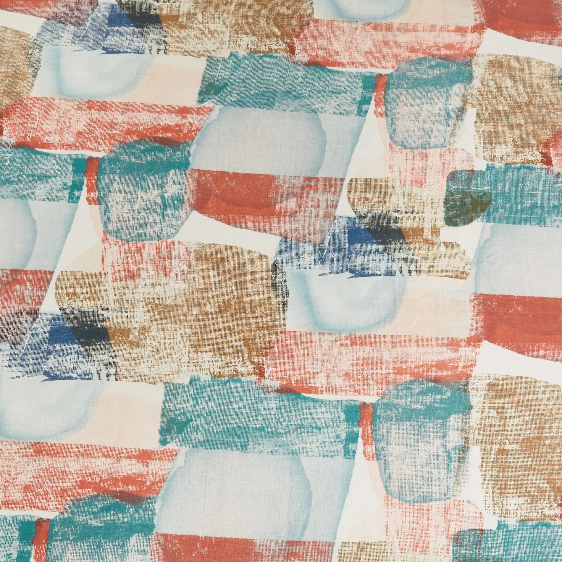 Tovaglia puro lino stampa astratta, Multicolor, large image number 1