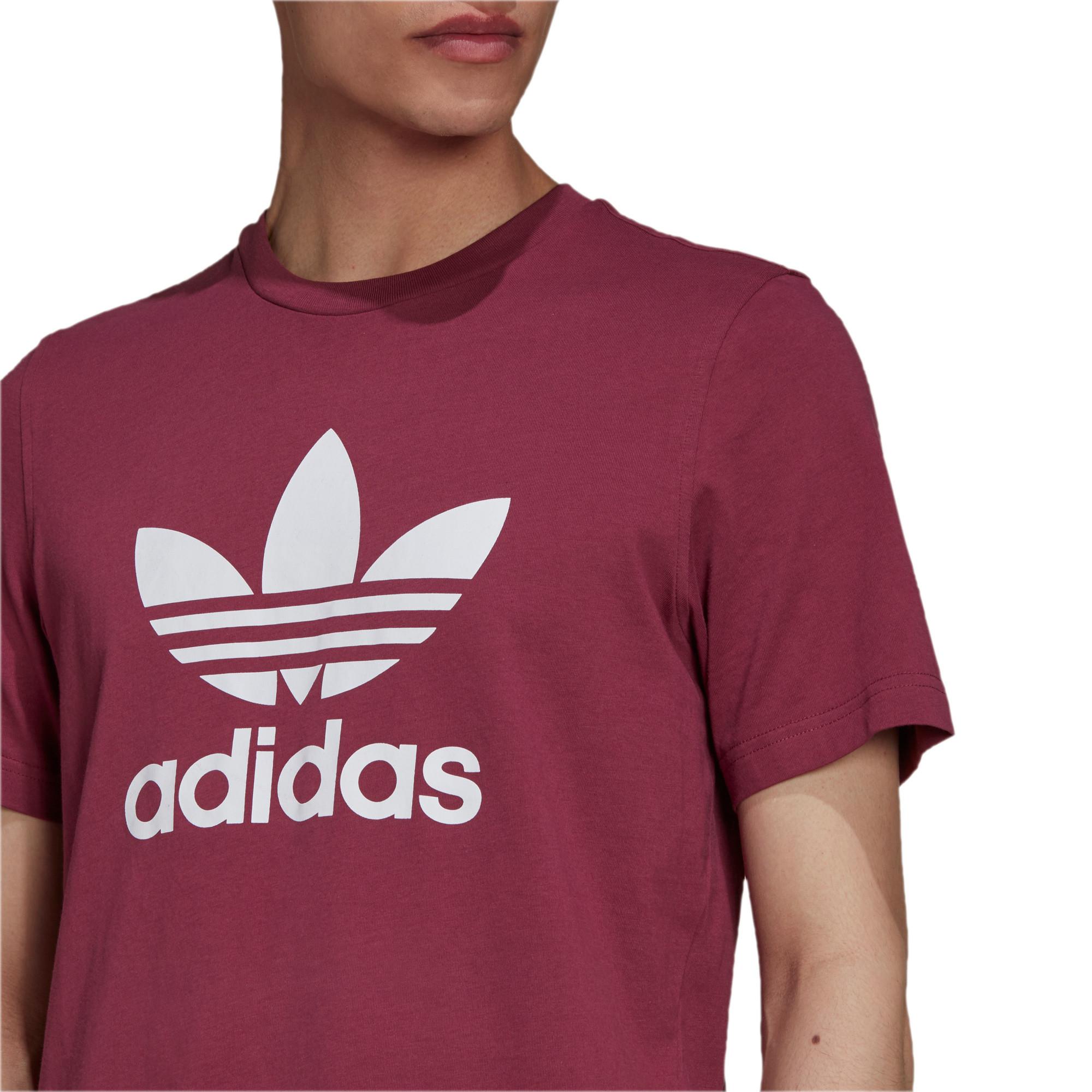T-shirt uomo adicolor Classics Trefoil, Bianco/Rosso, large image number 4