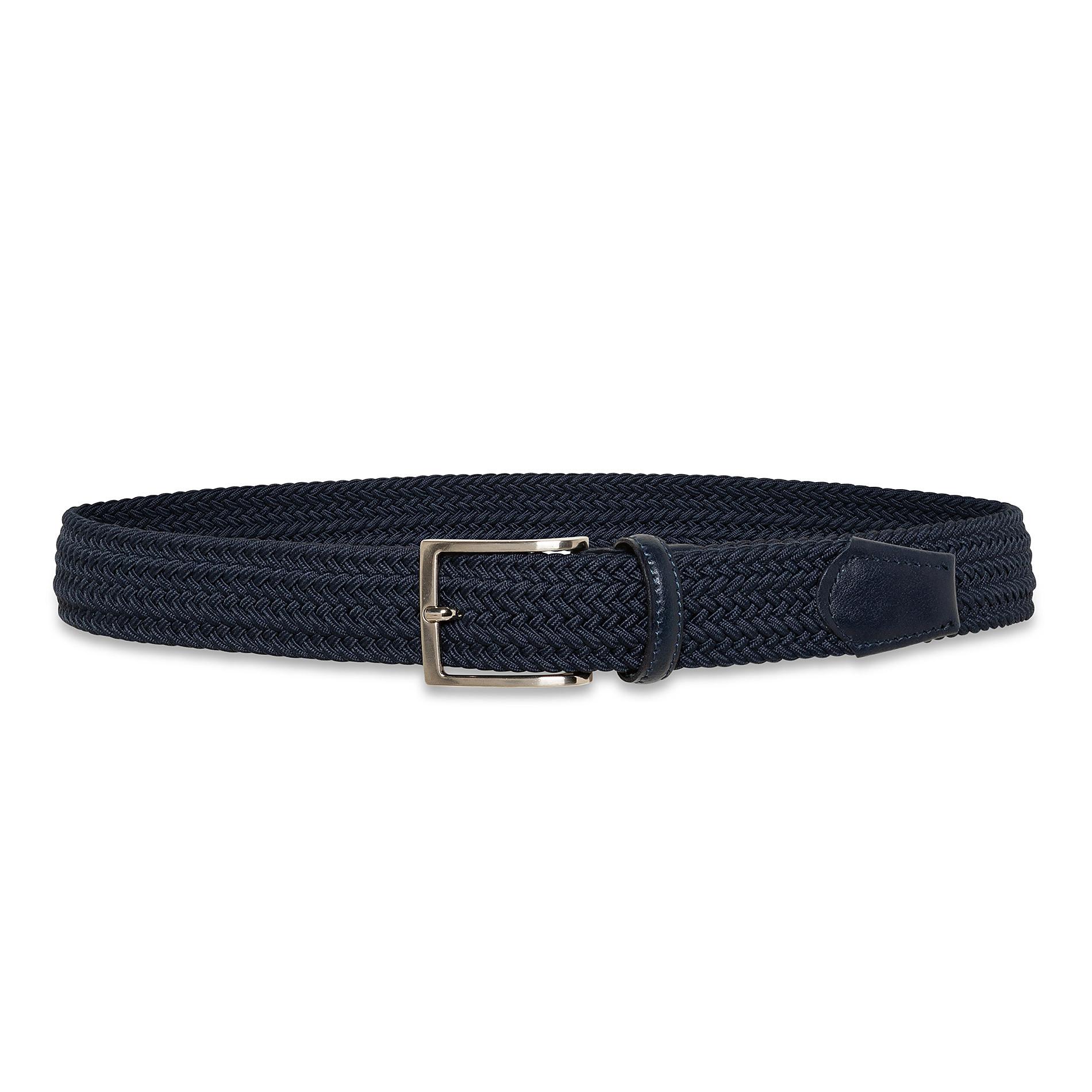 Cintura elasticizzata tinta unita Luca D'Altieri, Blu, large image number 1