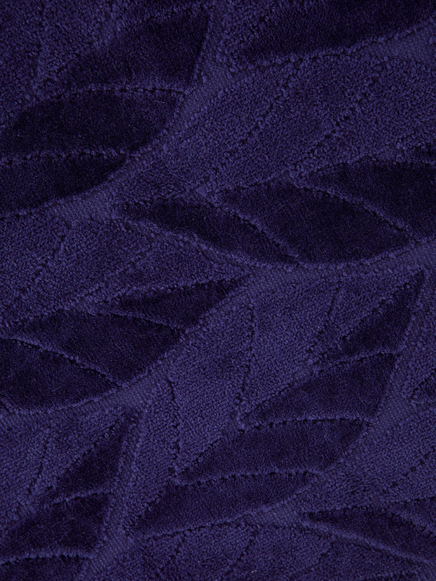 Asciugamano cotone velour tinta unita, Blu, large image number 2