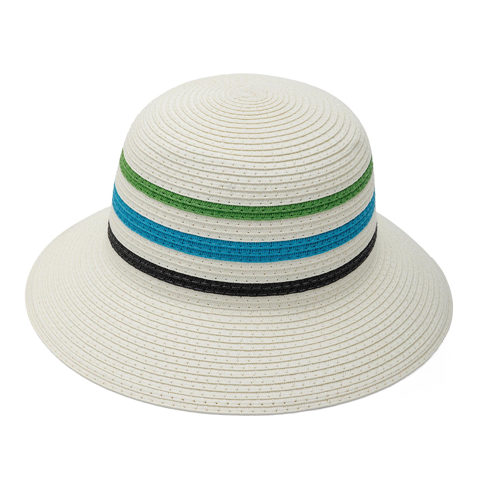 Cappello di paglia a tre righe Koan, Azzurro, large image number 0
