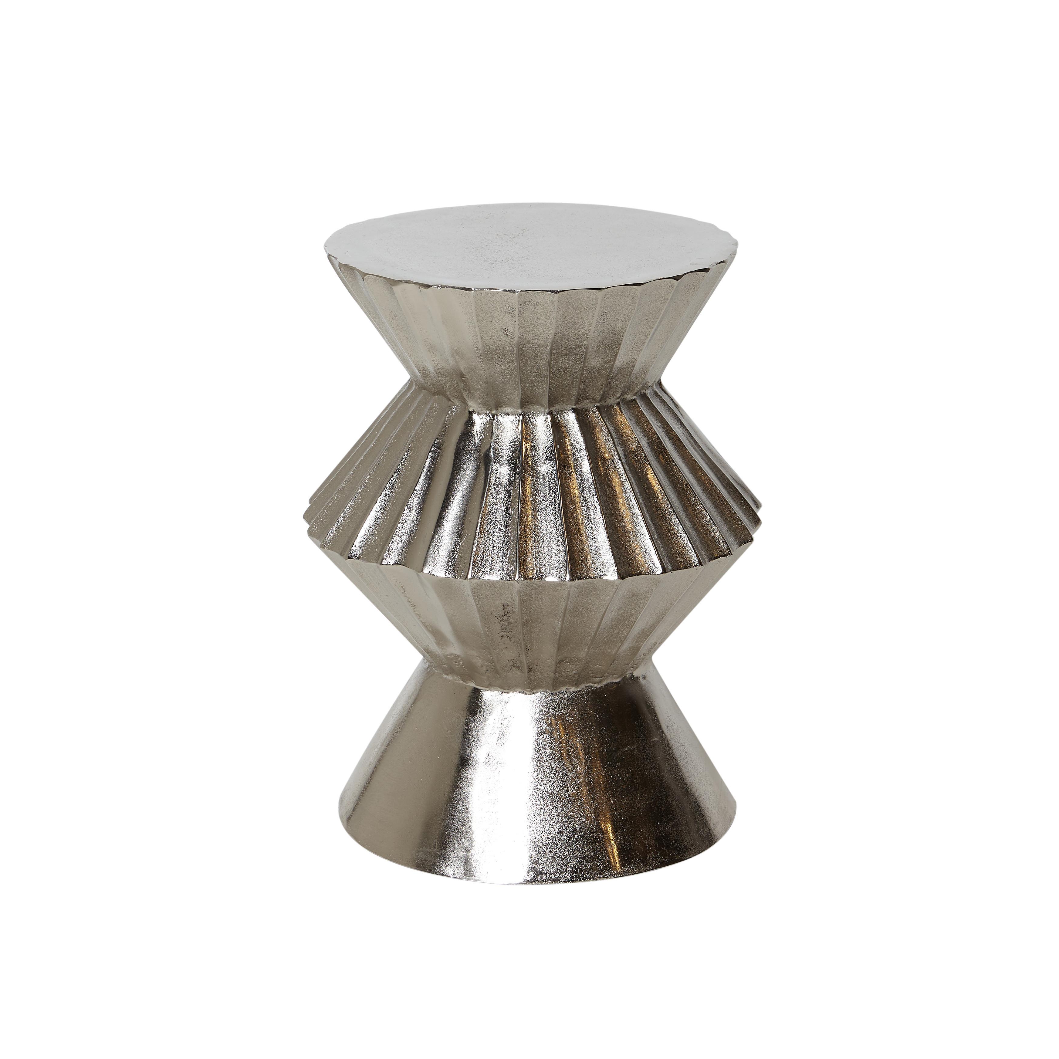 Tavolino in alluminio Drum, Grigio argento, large image number 0