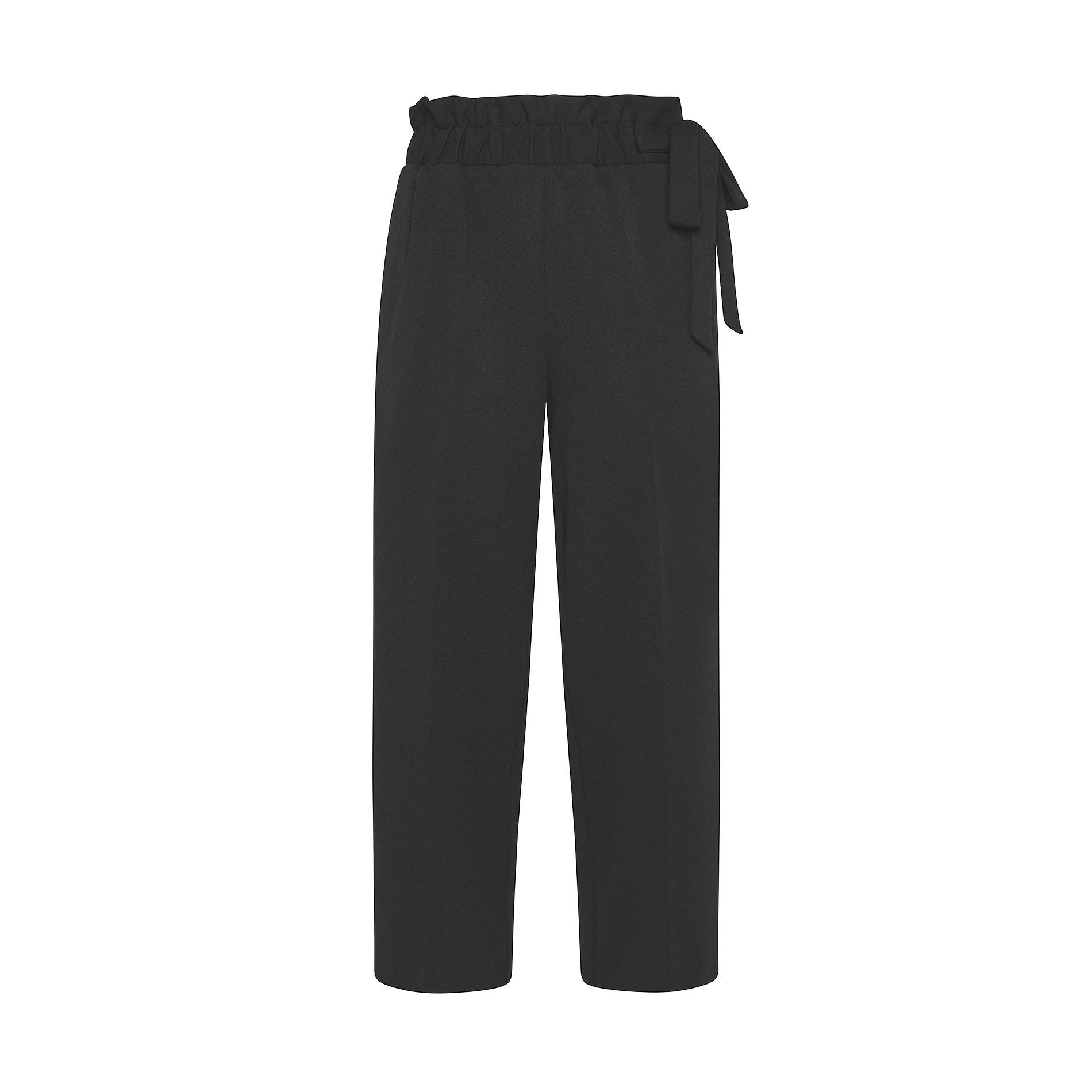 Pantalone ampio tessuto crêpe Koan, Nero, large image number 0