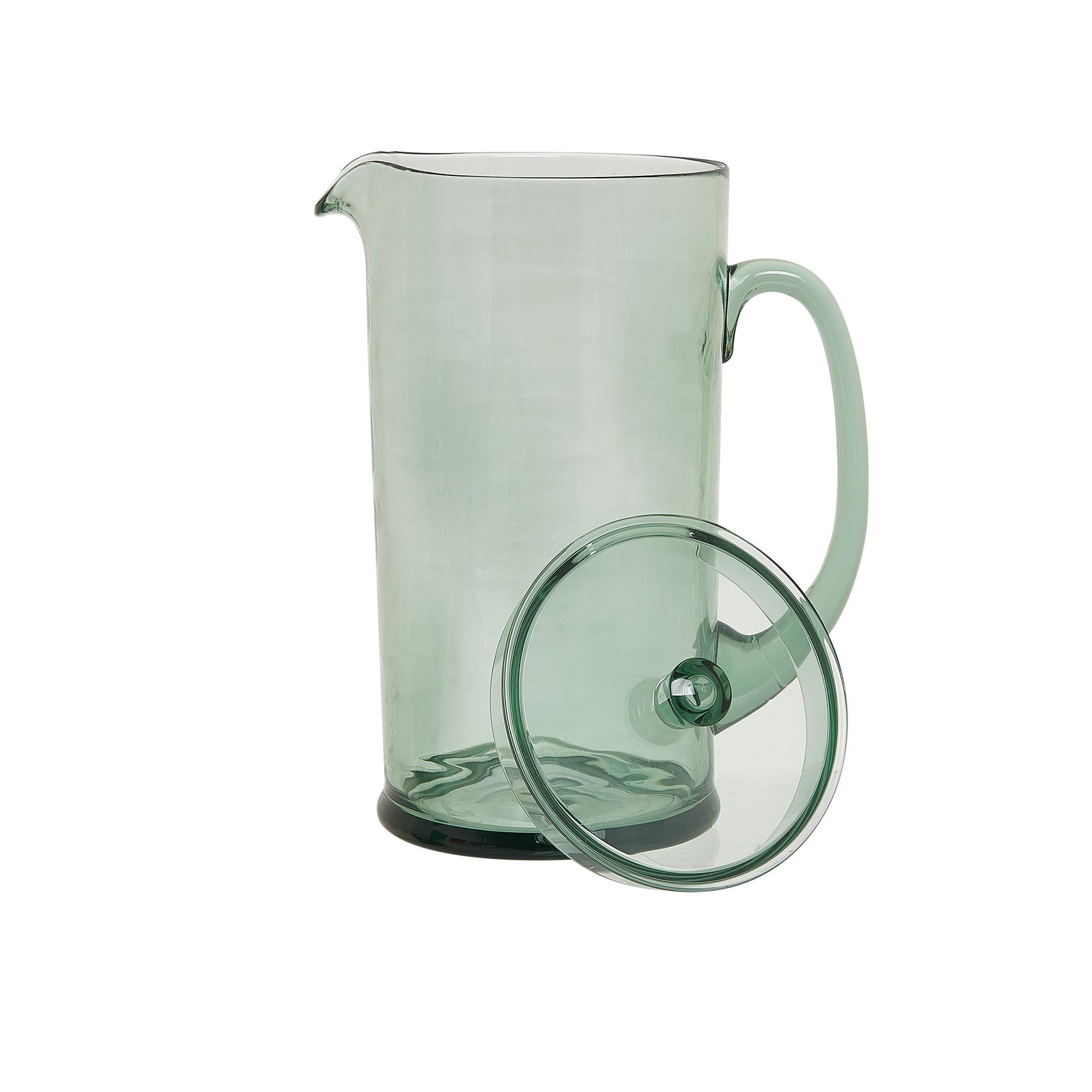 Caraffa plastica trasparente, Verde chiaro, large image number 1