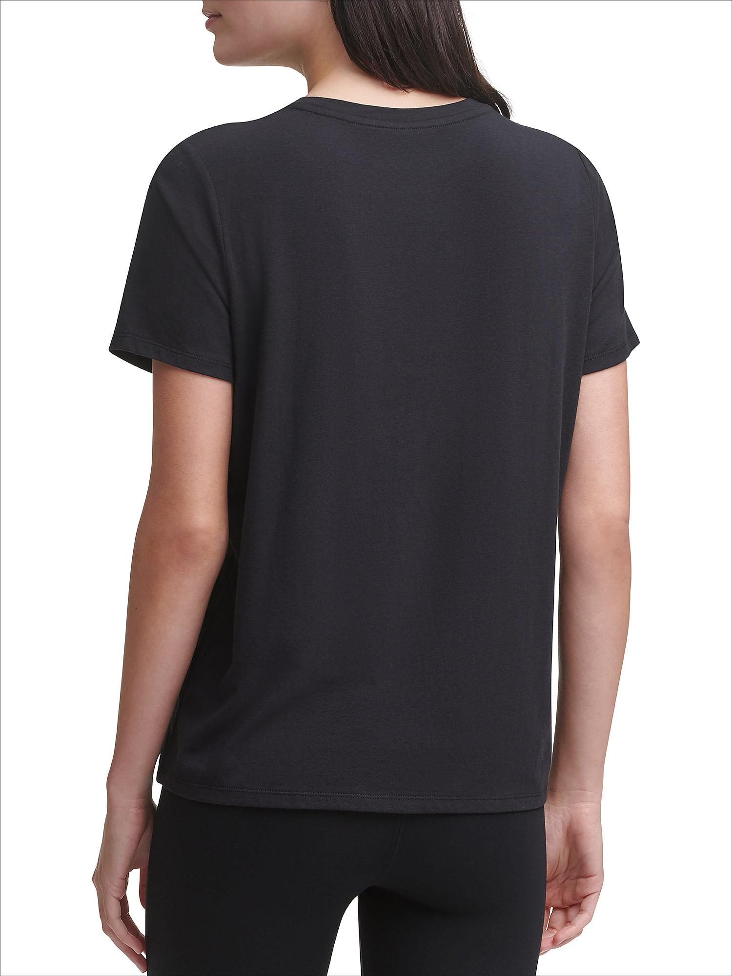 T-shirt con stripe logo, Nero, large image number 3