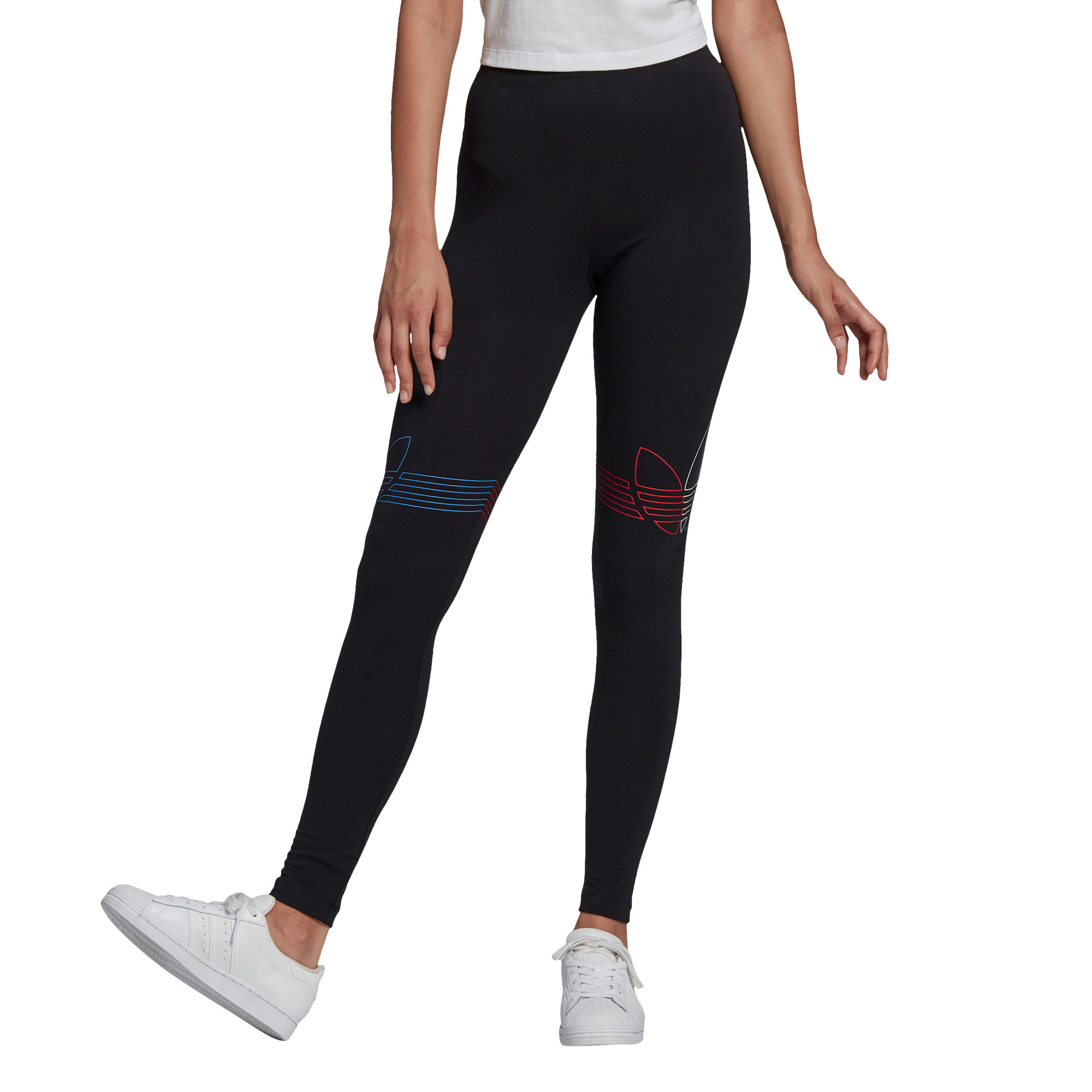 Leggings Loungewear adicolor Tricolor, Nero, large image number 2