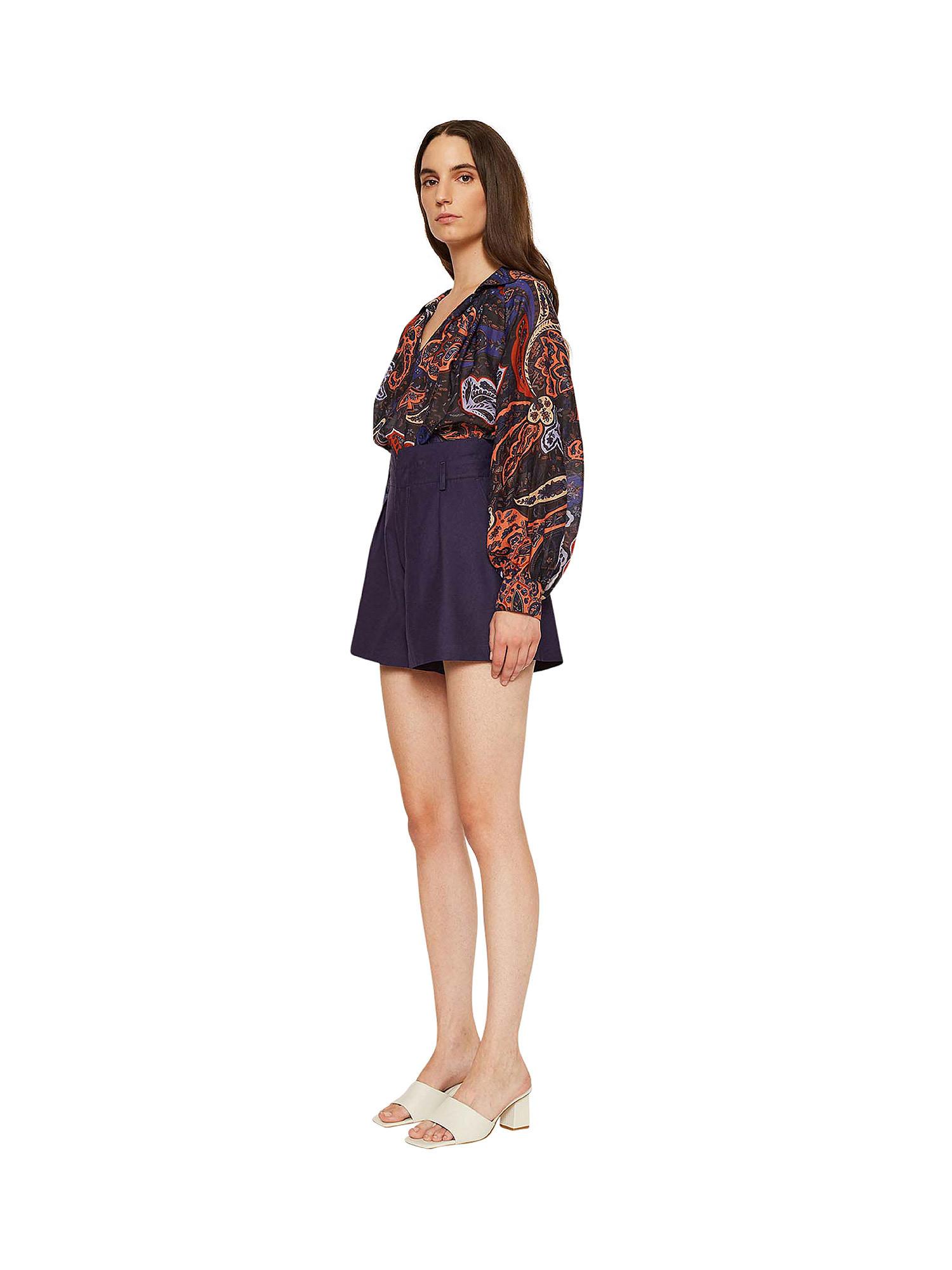 Shorts in shantung Ginger, Viola lilla, large image number 2