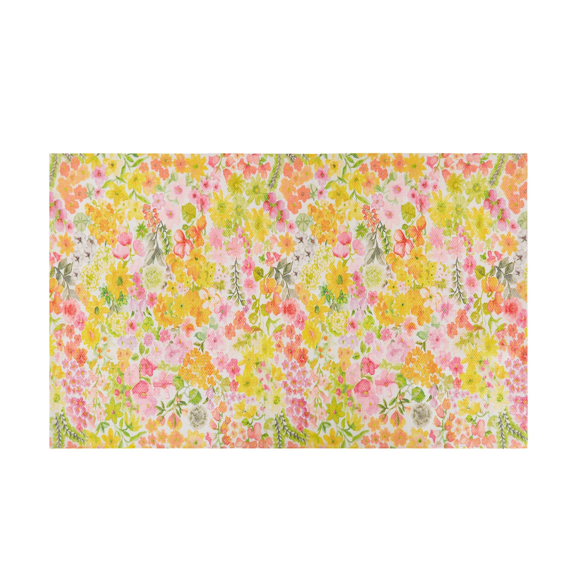 Tappeto da cucina stampa floreale, Multicolor, large image number 0