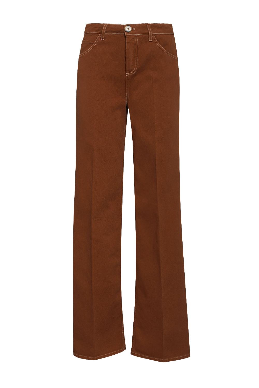 Pantalone in cotone tinto in capo, Marrone nocciola, large image number 0