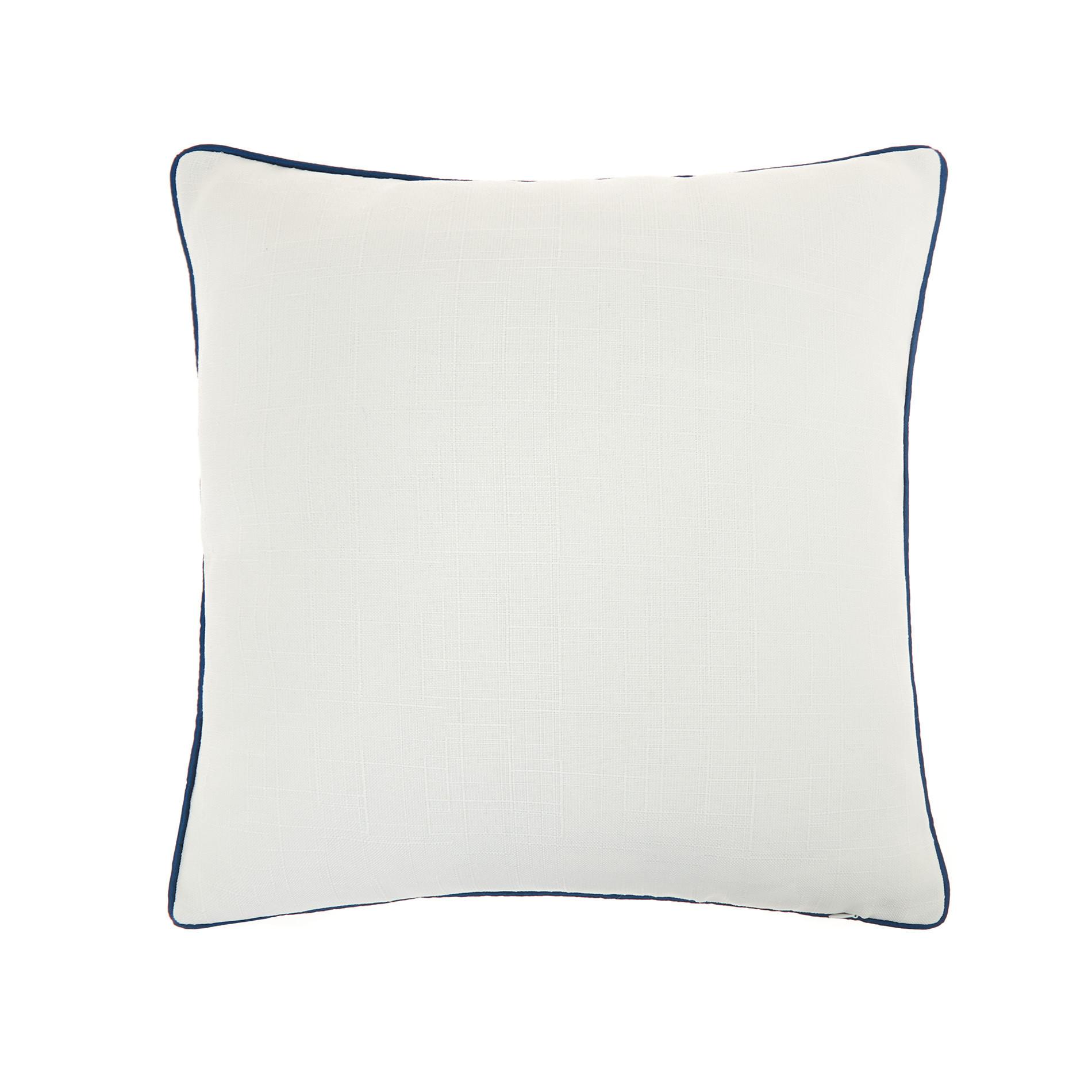 Cuscino ricamo polpo 45x45cm, Blu, large image number 1