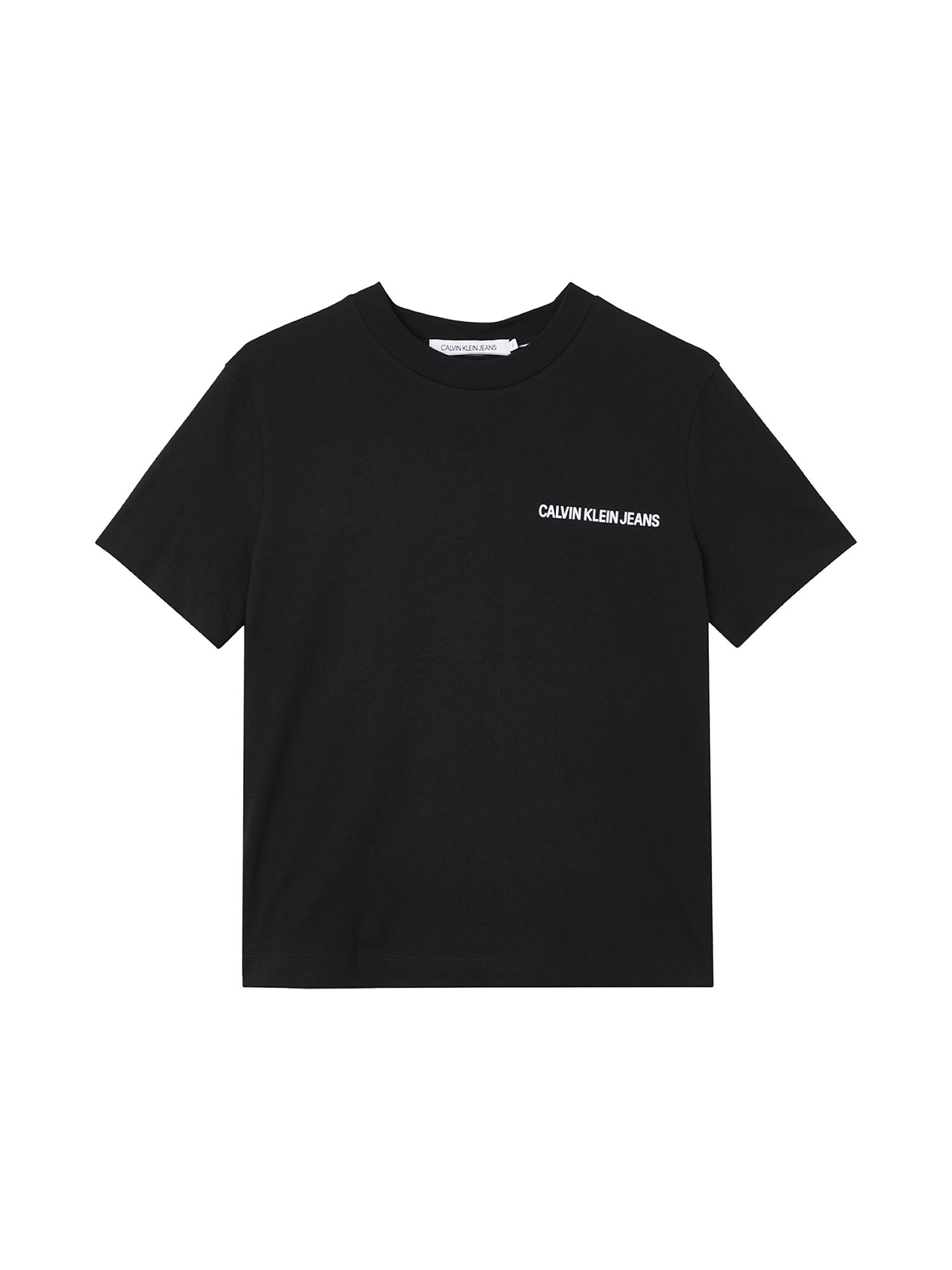 T-shirt in cotone biologico con logo posteriore, Nero, large image number 0