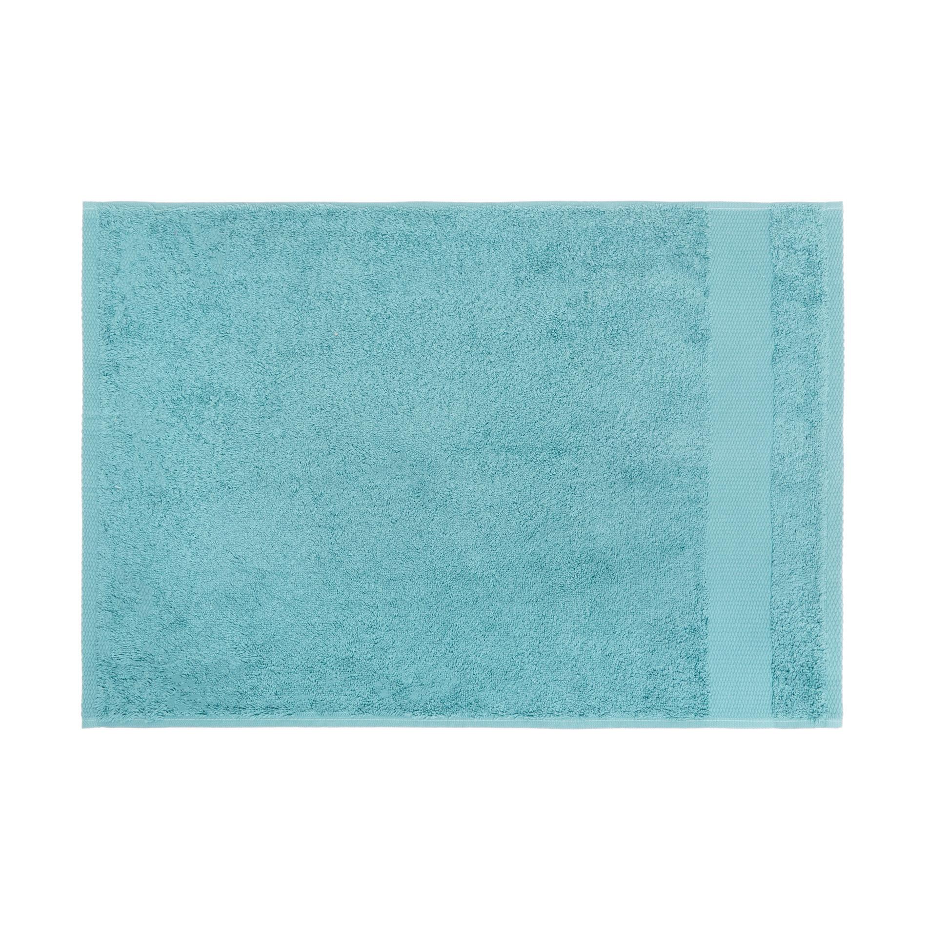 Asciugamano spugna di puro cotone Zefiro, Verde acqua, large image number 2