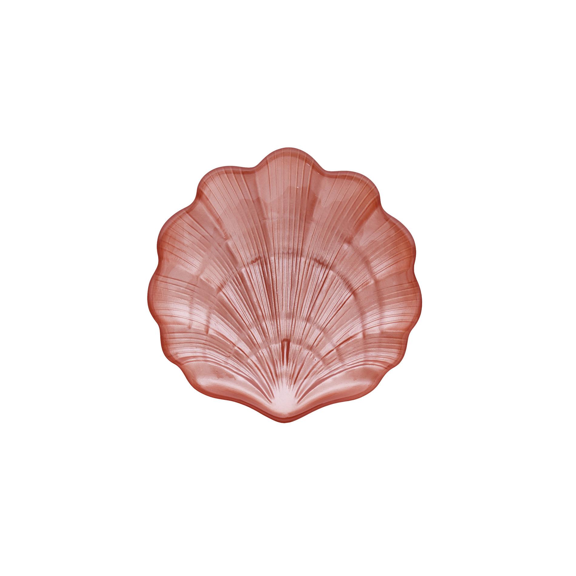 Piattino vetro a conchiglia, Rosa chiaro, large image number 0