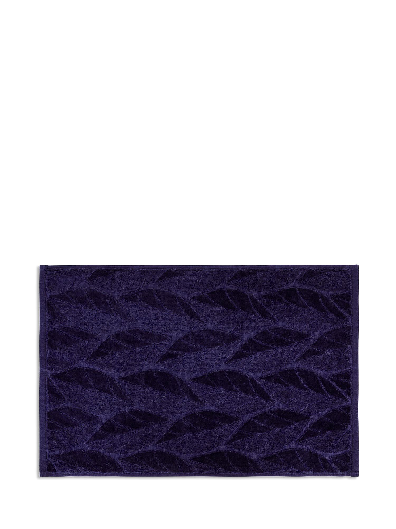Asciugamano cotone velour tinta unita, Blu, large image number 1