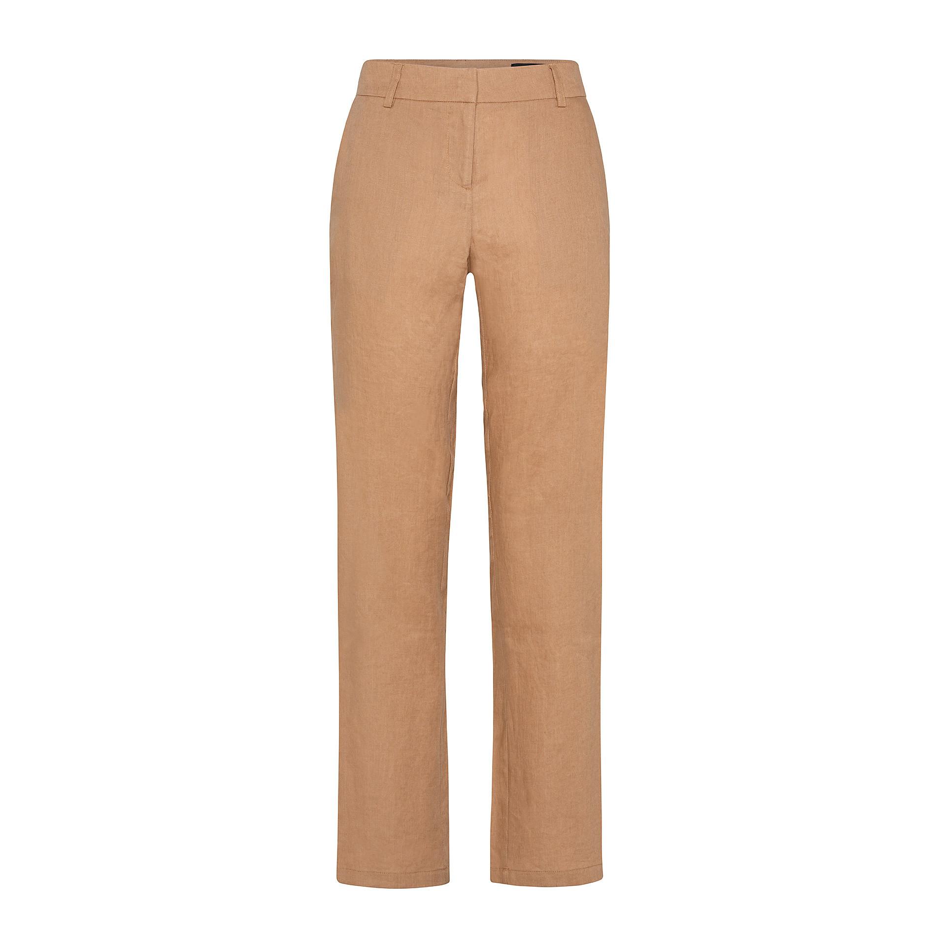 Pantalone classico in 100% lino con tasche Koan, Arancione, large image number 0