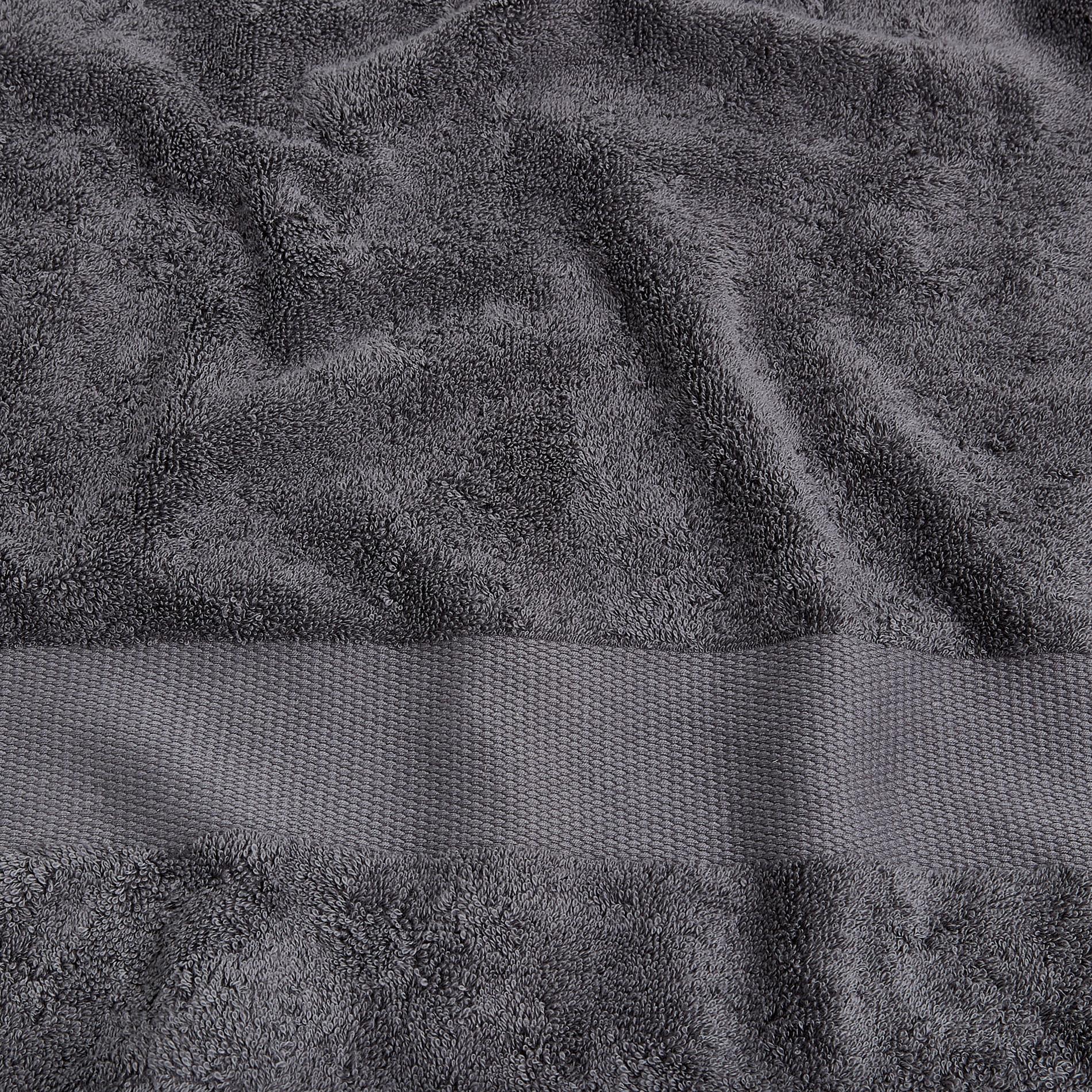 Asciugamano spugna di puro cotone Zefiro, Grigio scuro, large image number 3