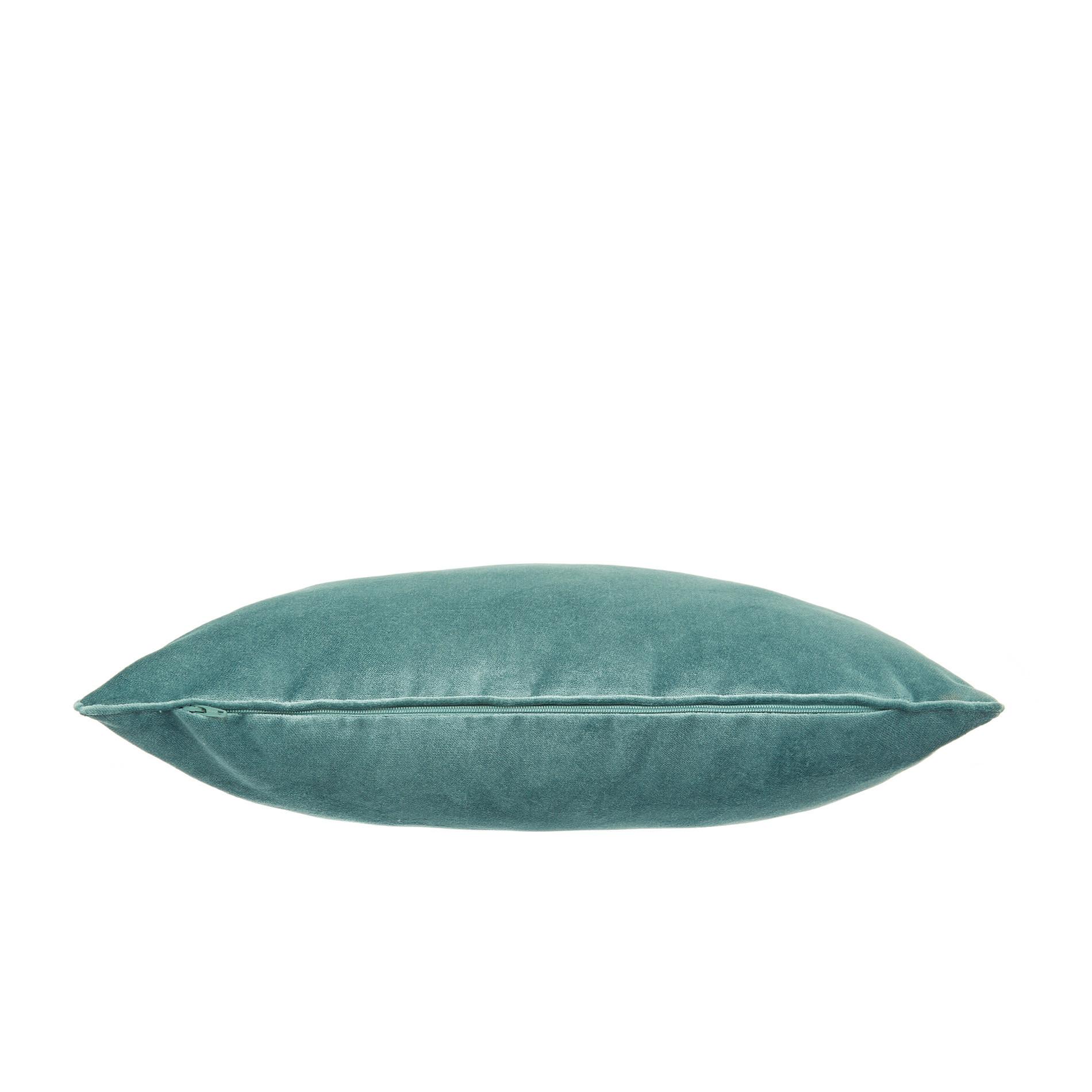 Cuscino velluto effetto seta tinta unita, Verde smeraldo, large image number 1