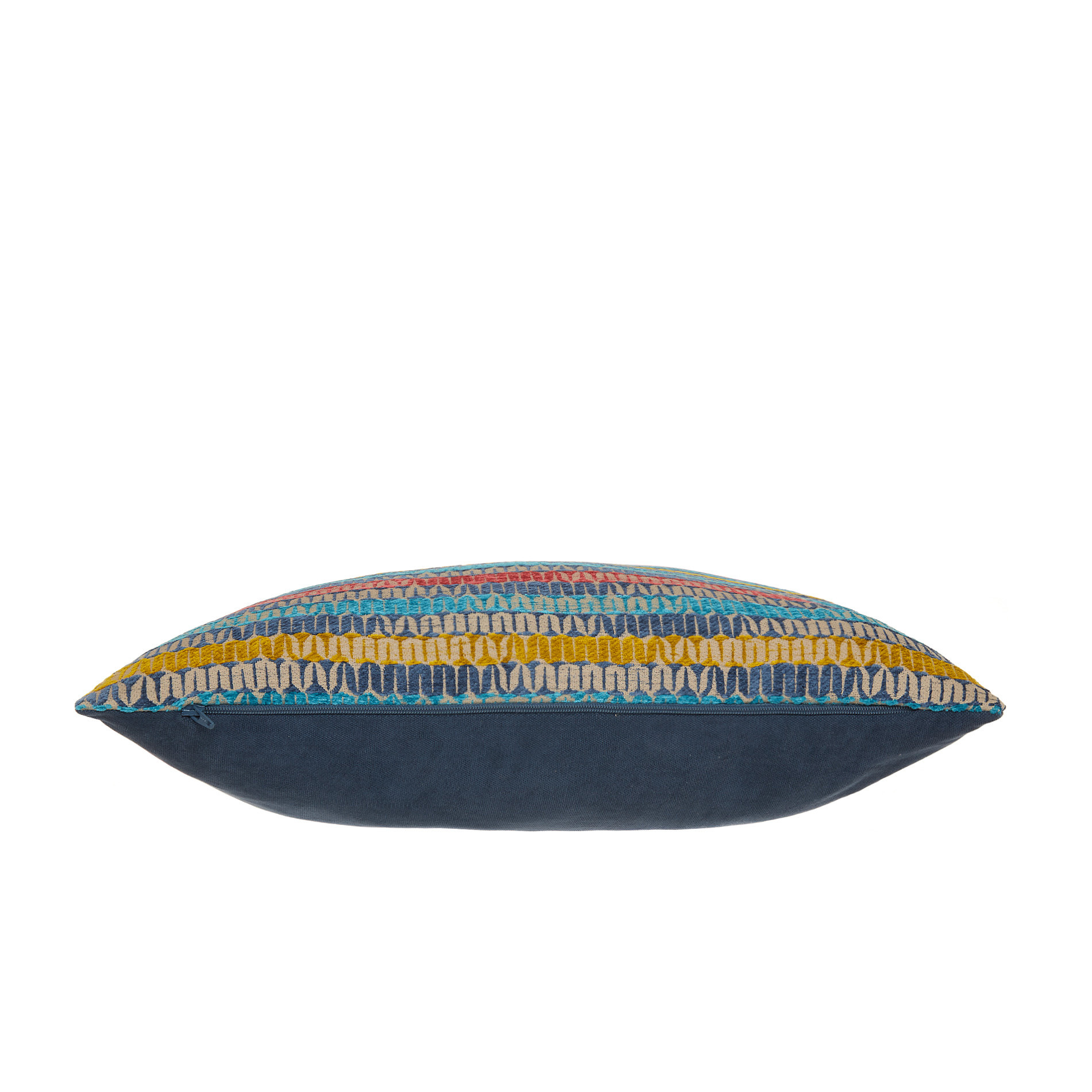 Cuscino jacquard motivo geometrico 43x43cm, Multicolor, large image number 2
