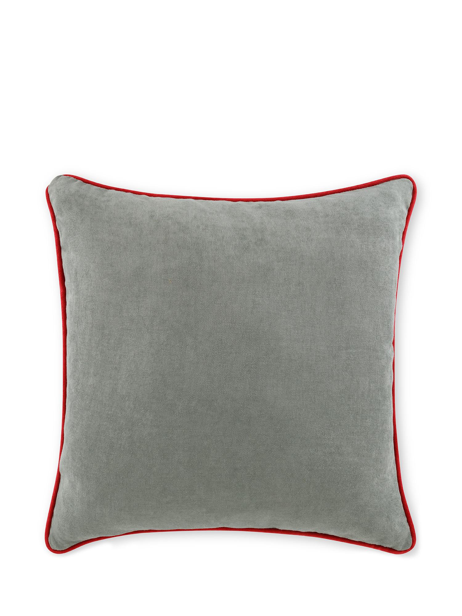 Cuscino tessuto effetto mélange 50x50cm, Grigio, large image number 0