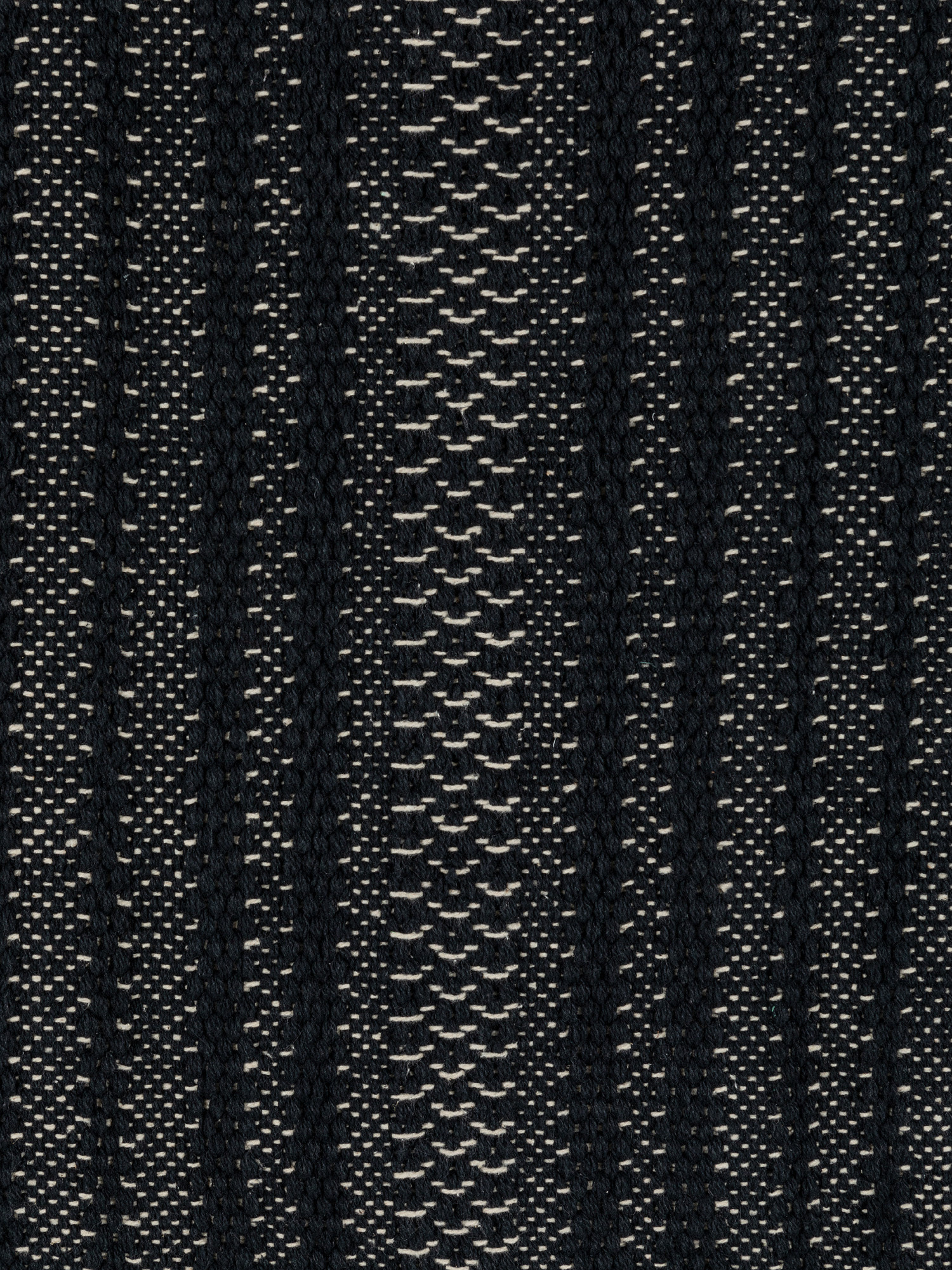 Tappeto tessuto a mano motivo geometrico, Nero, large image number 1