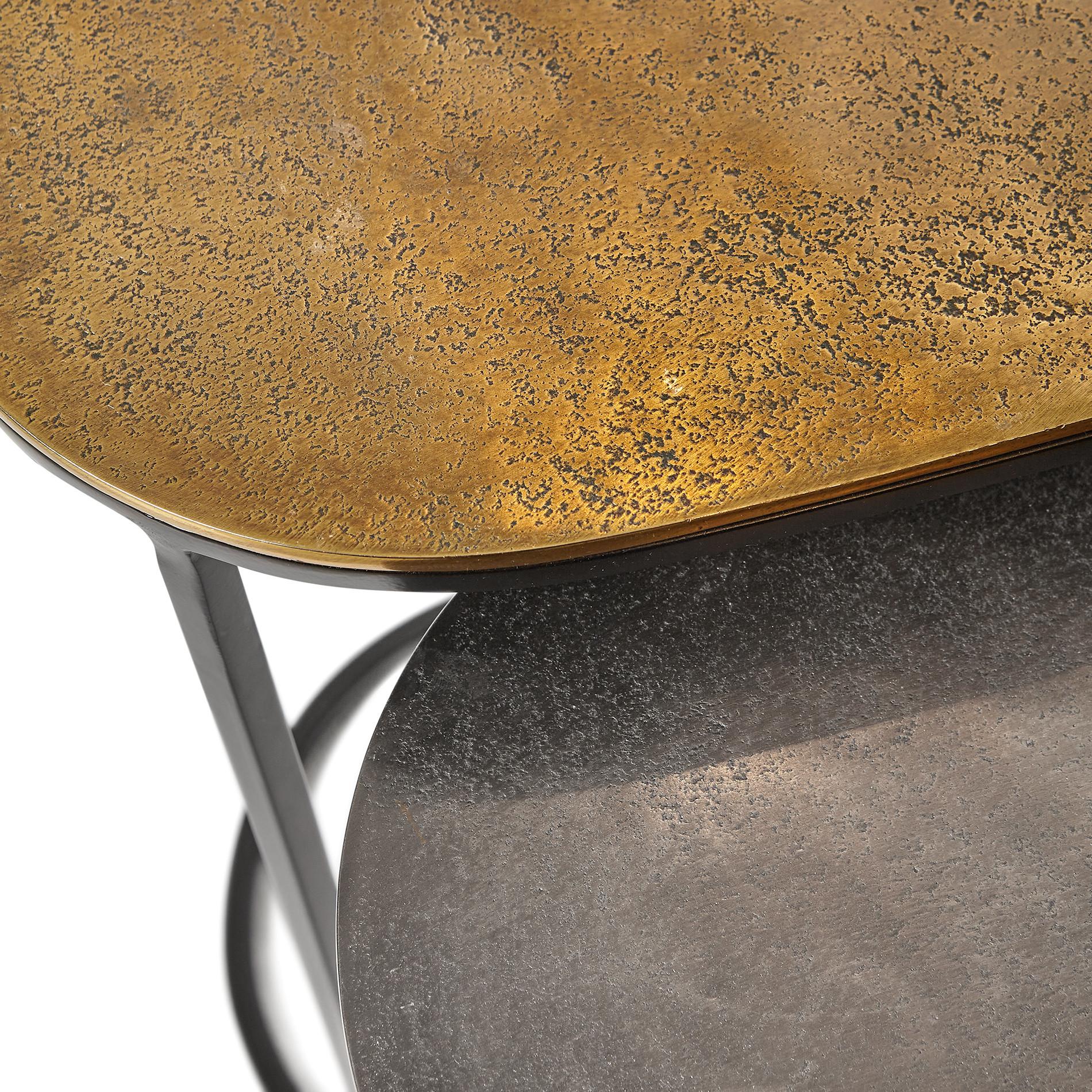 Set 2 mini consolle in alluminio 2Consolle, Marrone bronzo, large image number 1