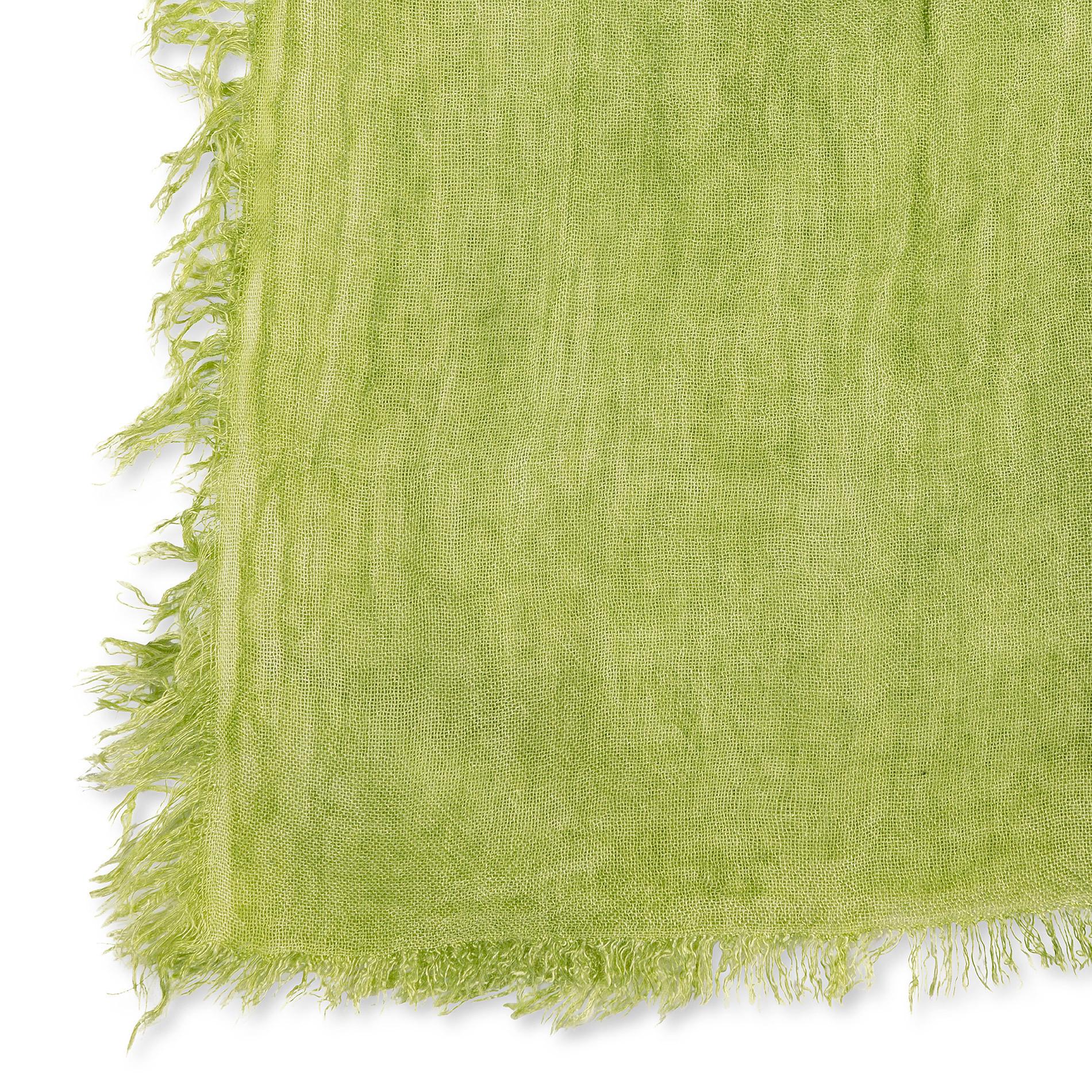 Stola in viscosa di bamboo tinta unita, Verde, large image number 1