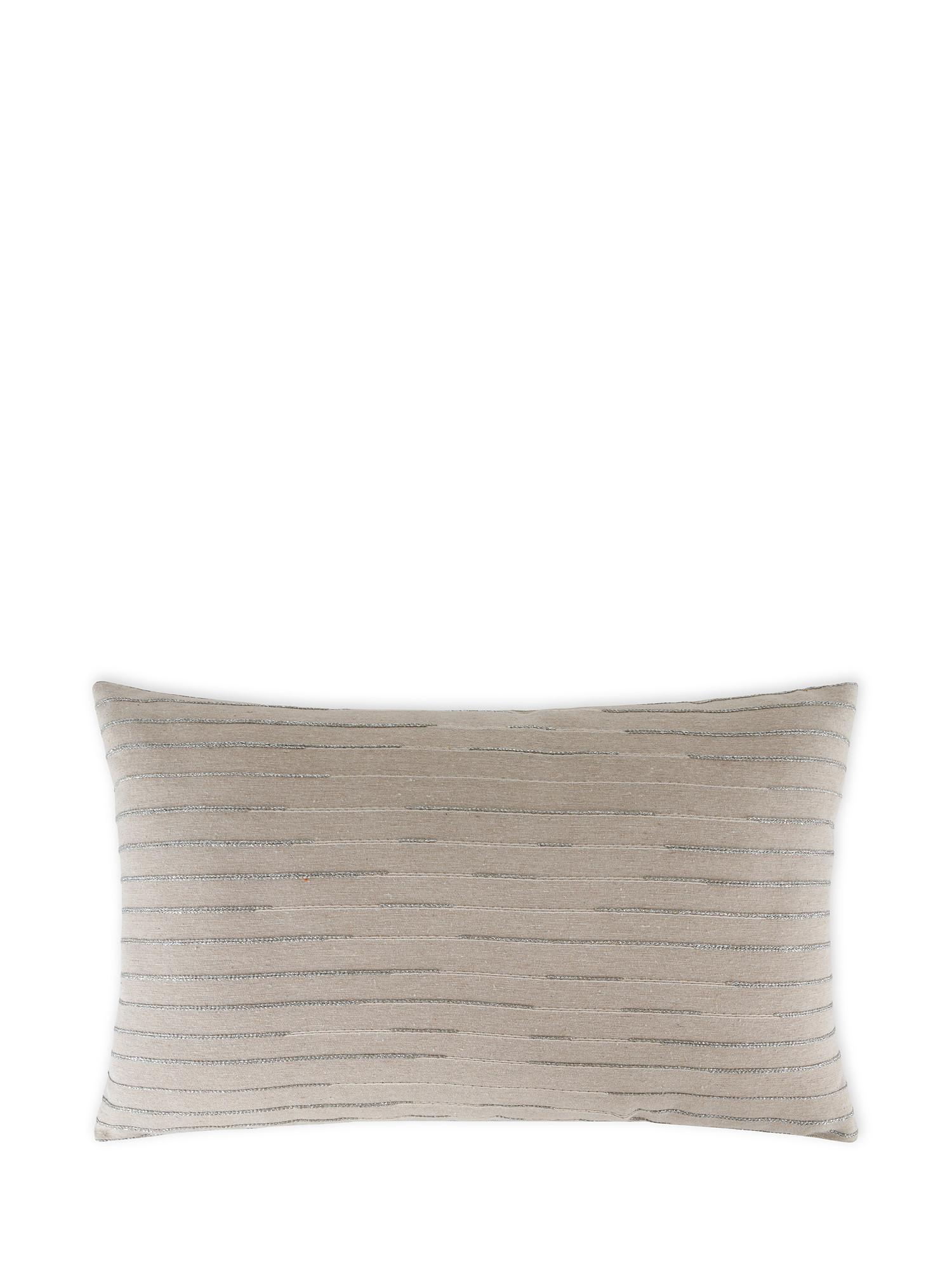 Cuscino tessuto jacquard lurex 35x55cm, Multicolor, large image number 0