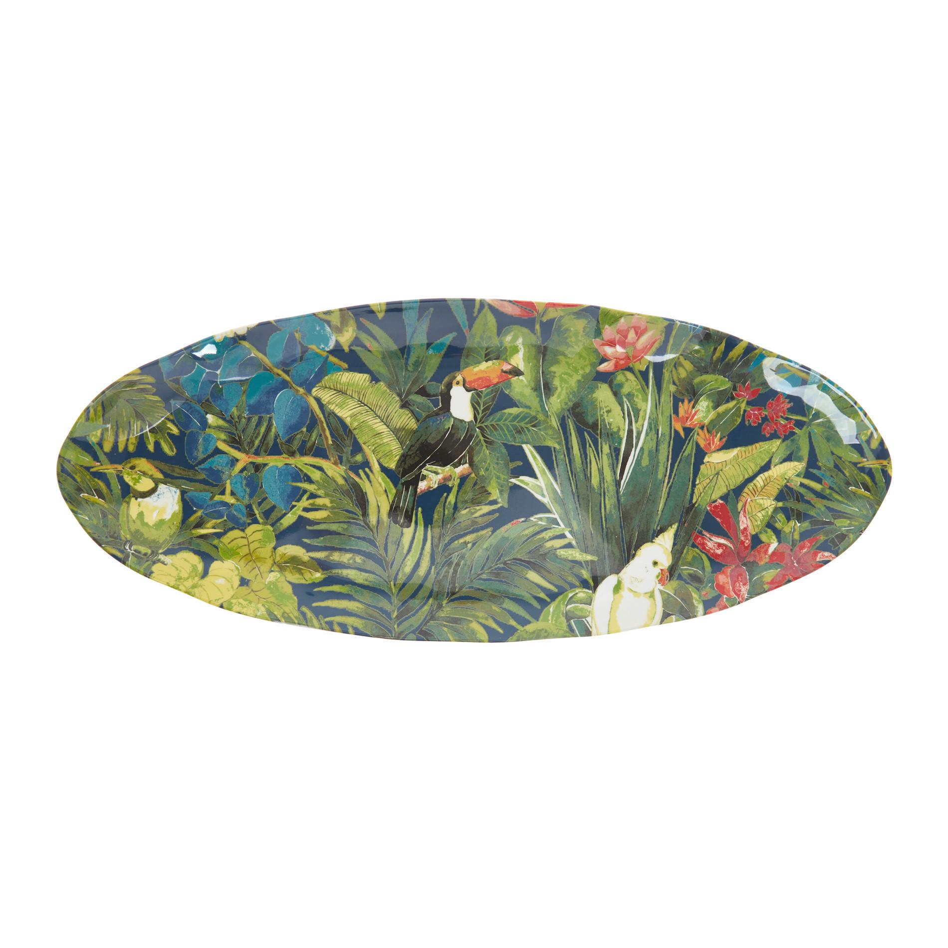 Piatto da portata melammina motivo tropicale, Multicolor, large image number 0