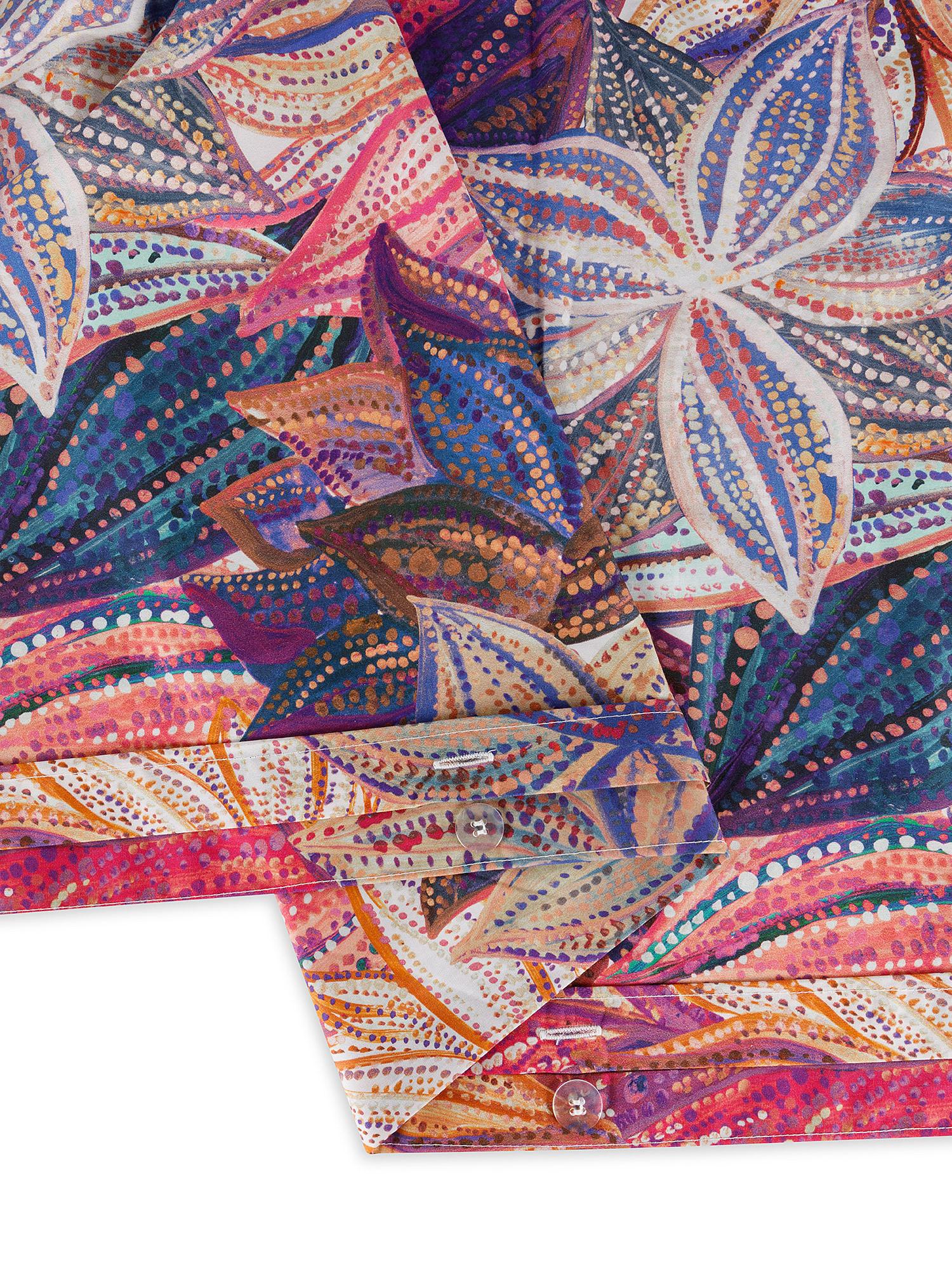 Copripiumino cotone percalle fantasia floreale, Multicolor, large image number 2