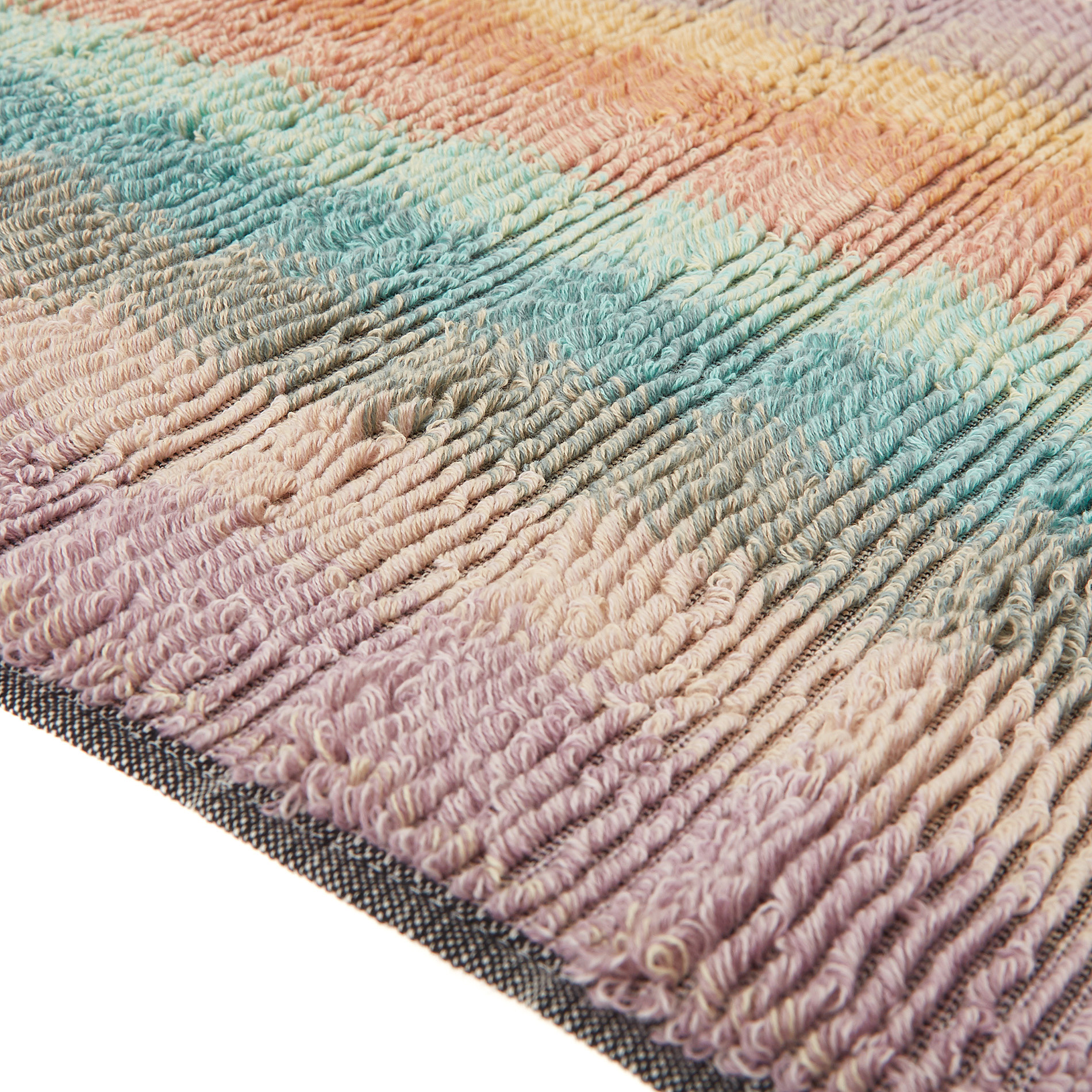 Asciugamano spugna di cotone a righe, Multicolor, large image number 2