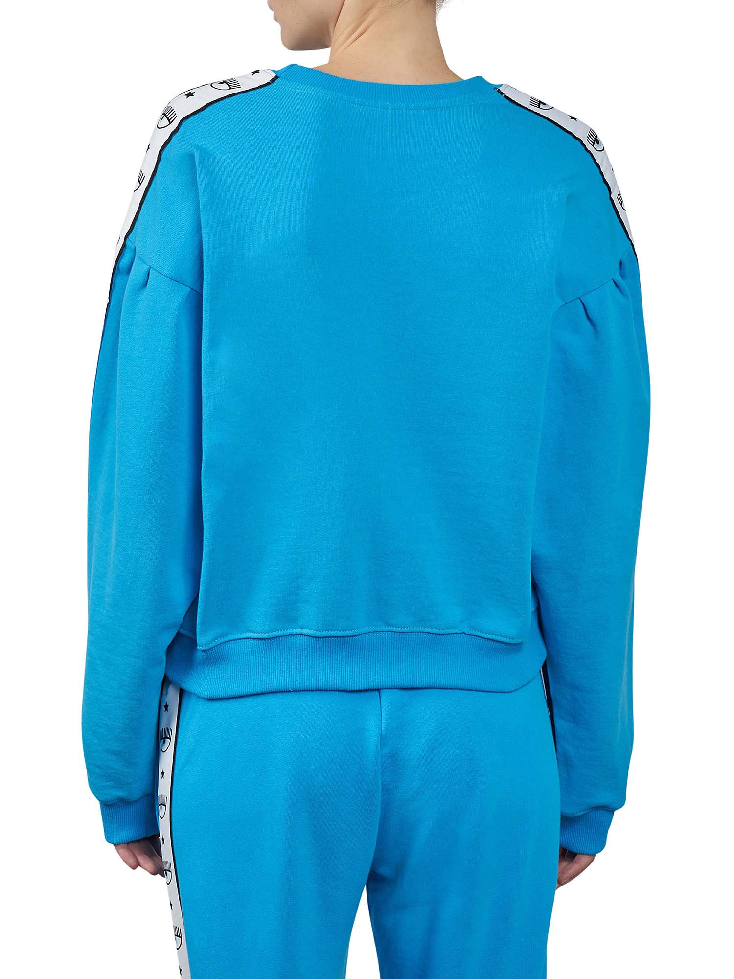 Maxi sleeve Logomania sweatshirt, Azzurro turchese, large image number 2