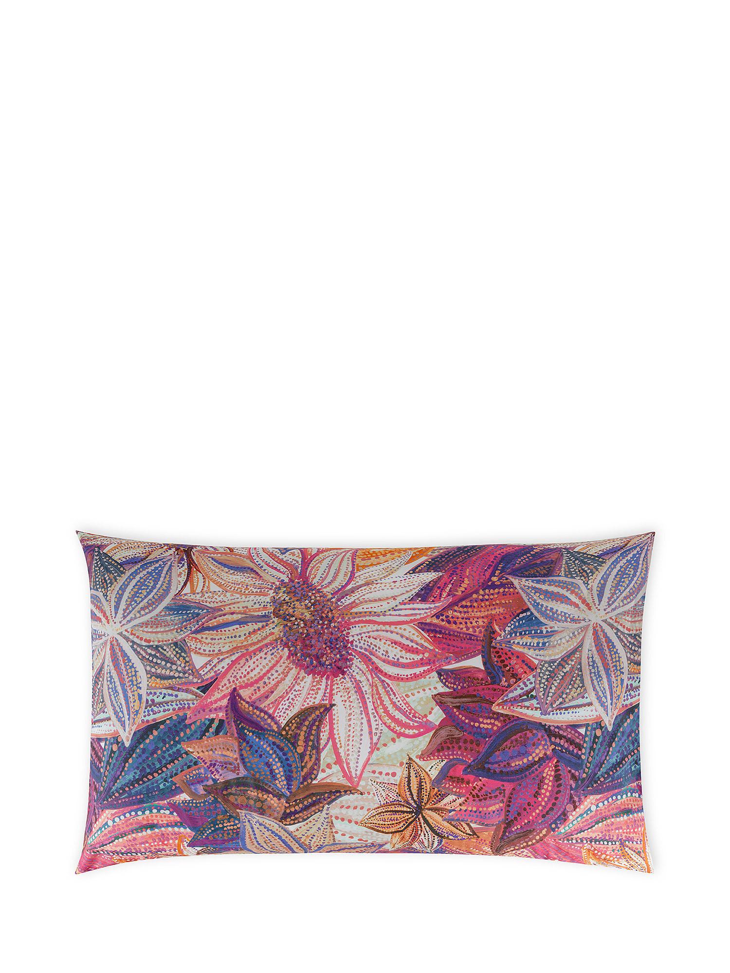Federa cotone percalle fantasia floreale, Multicolor, large image number 0