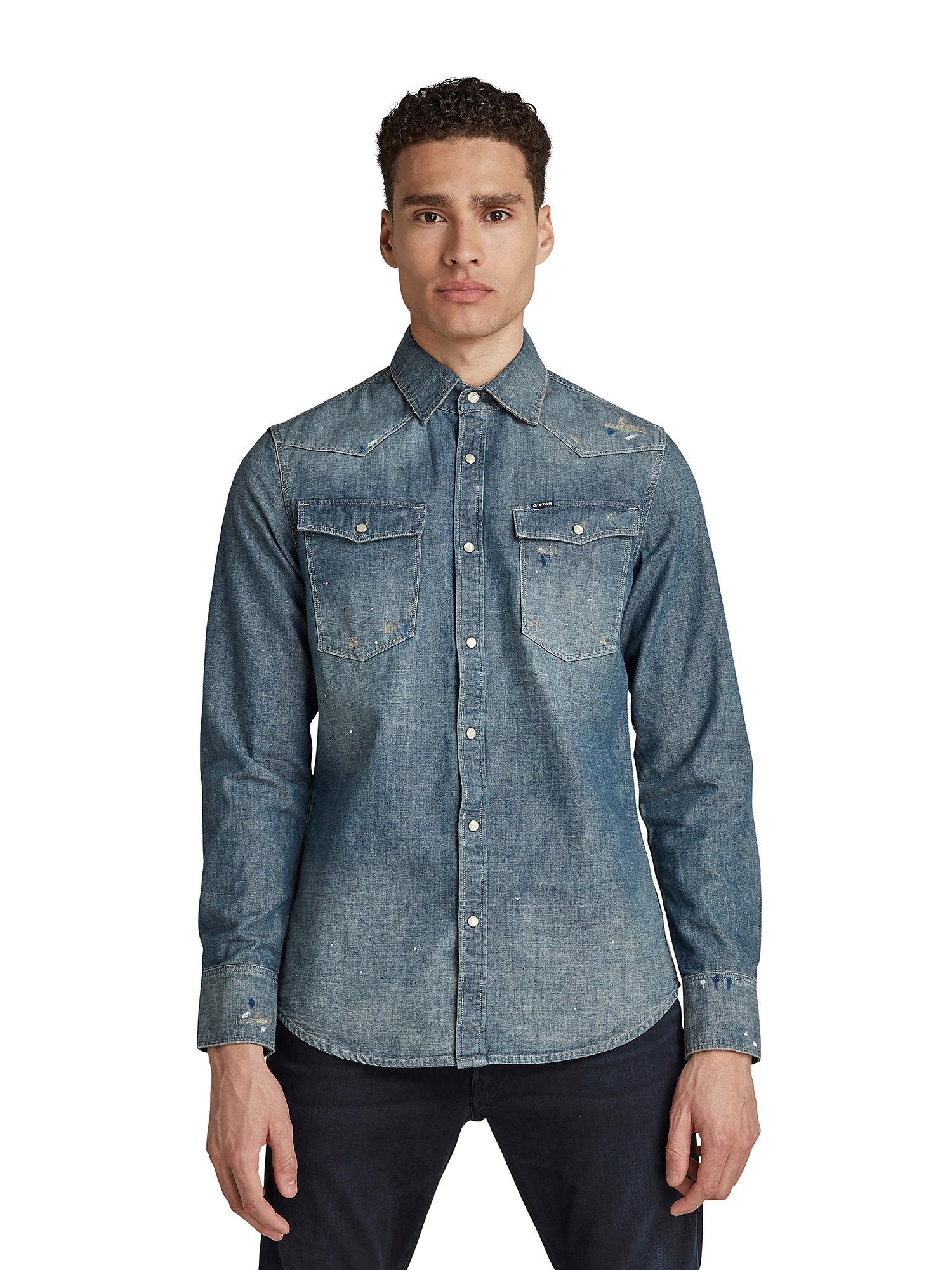Camicia Chambray slim, Denim, large image number 5