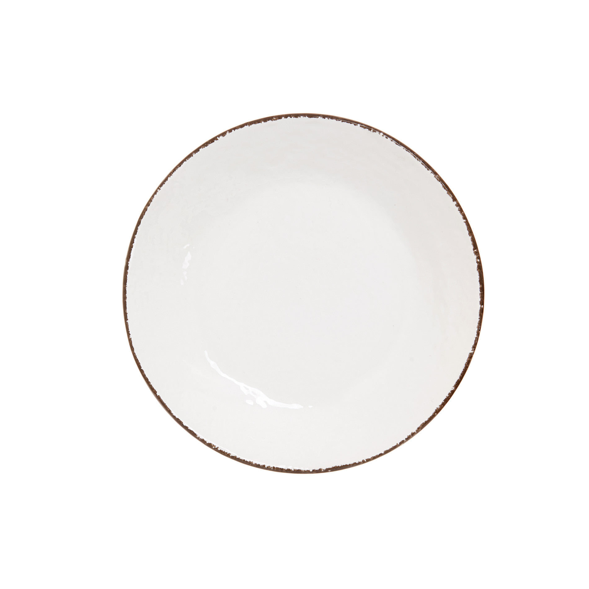 Piatto fondo ceramica artigianale Preta, Bianco, large image number 1