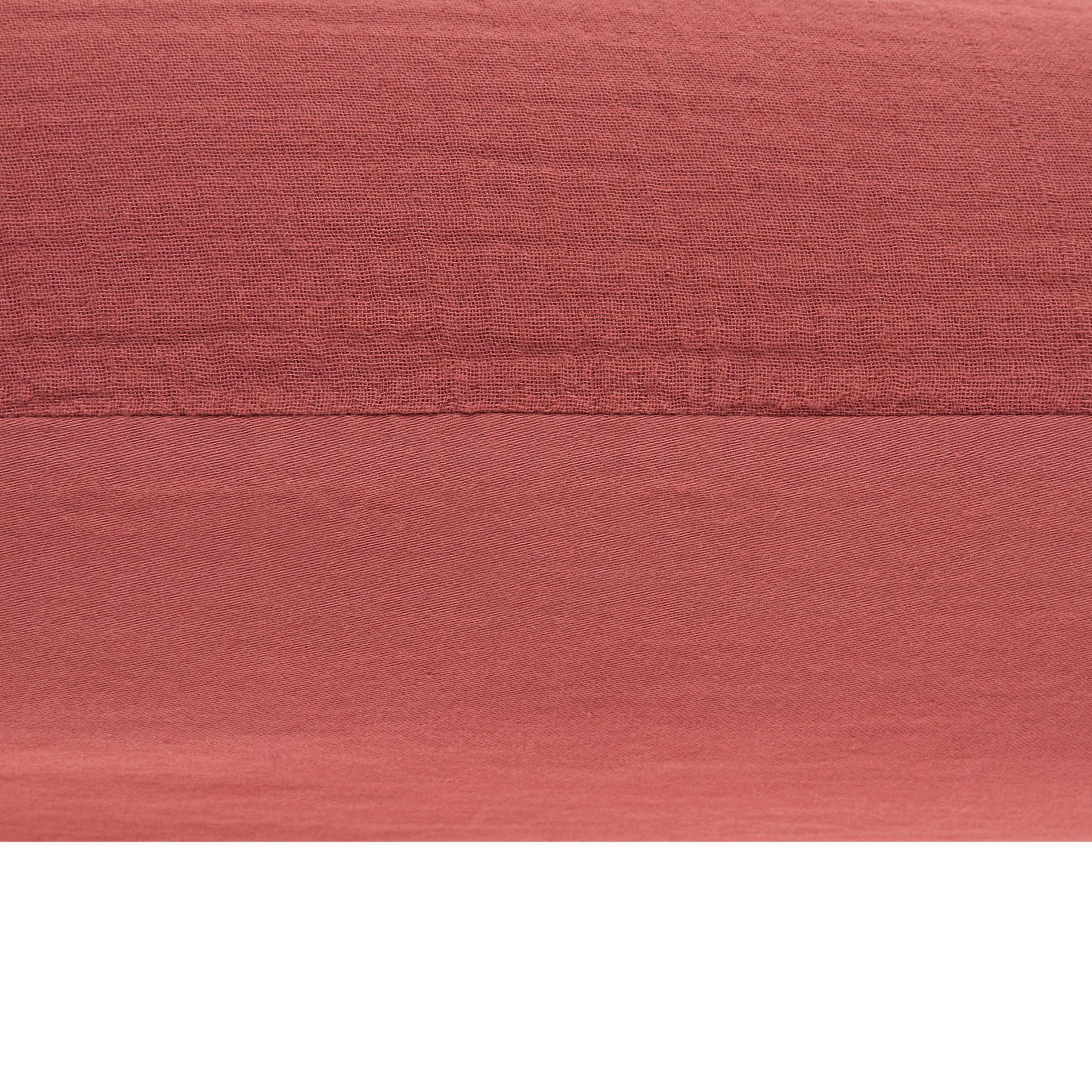 Federa garza di cotone tinta unita, Rosa fenicottero, large image number 1