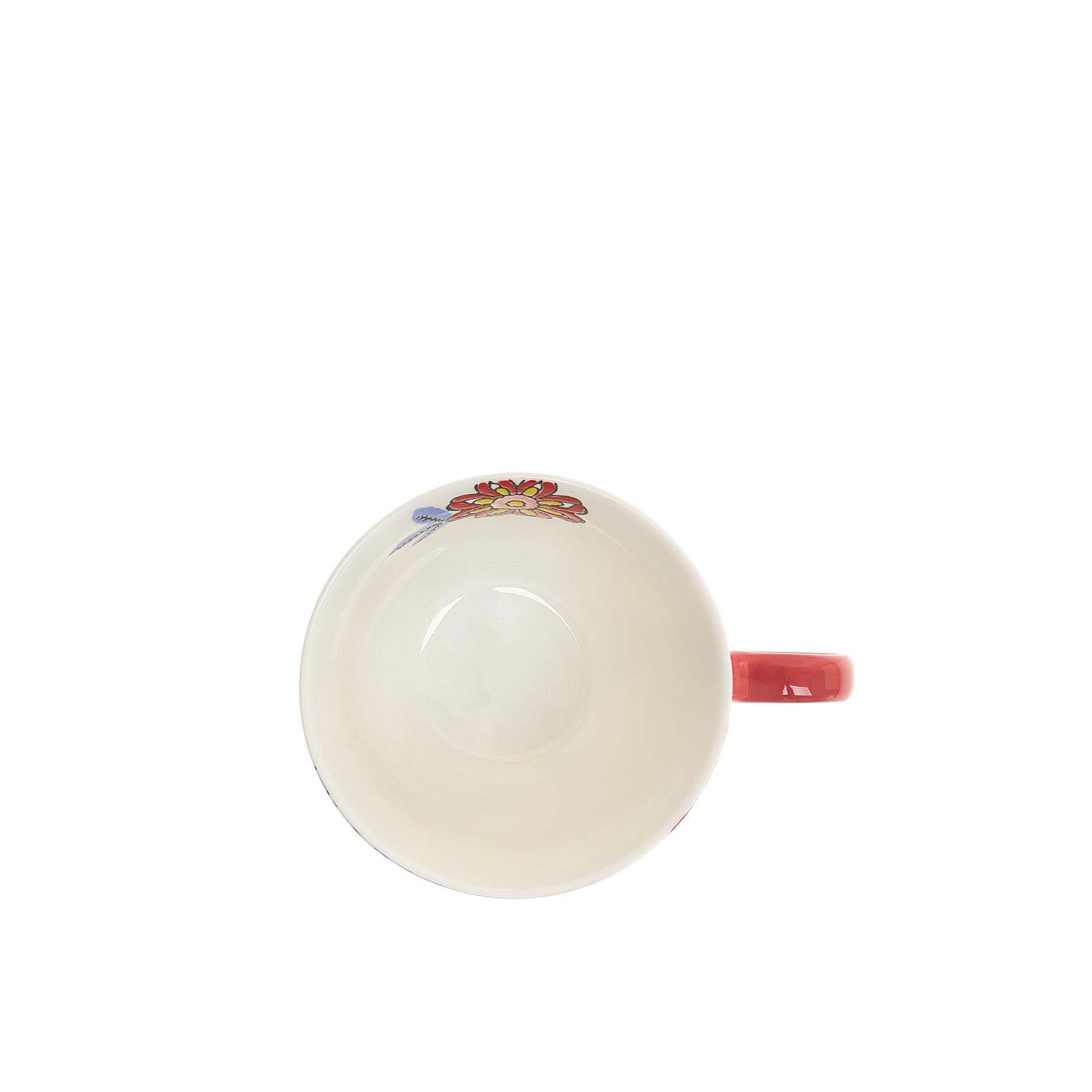 Tazza da colazione stoneware dipinta a mano, Multicolor, large image number 3