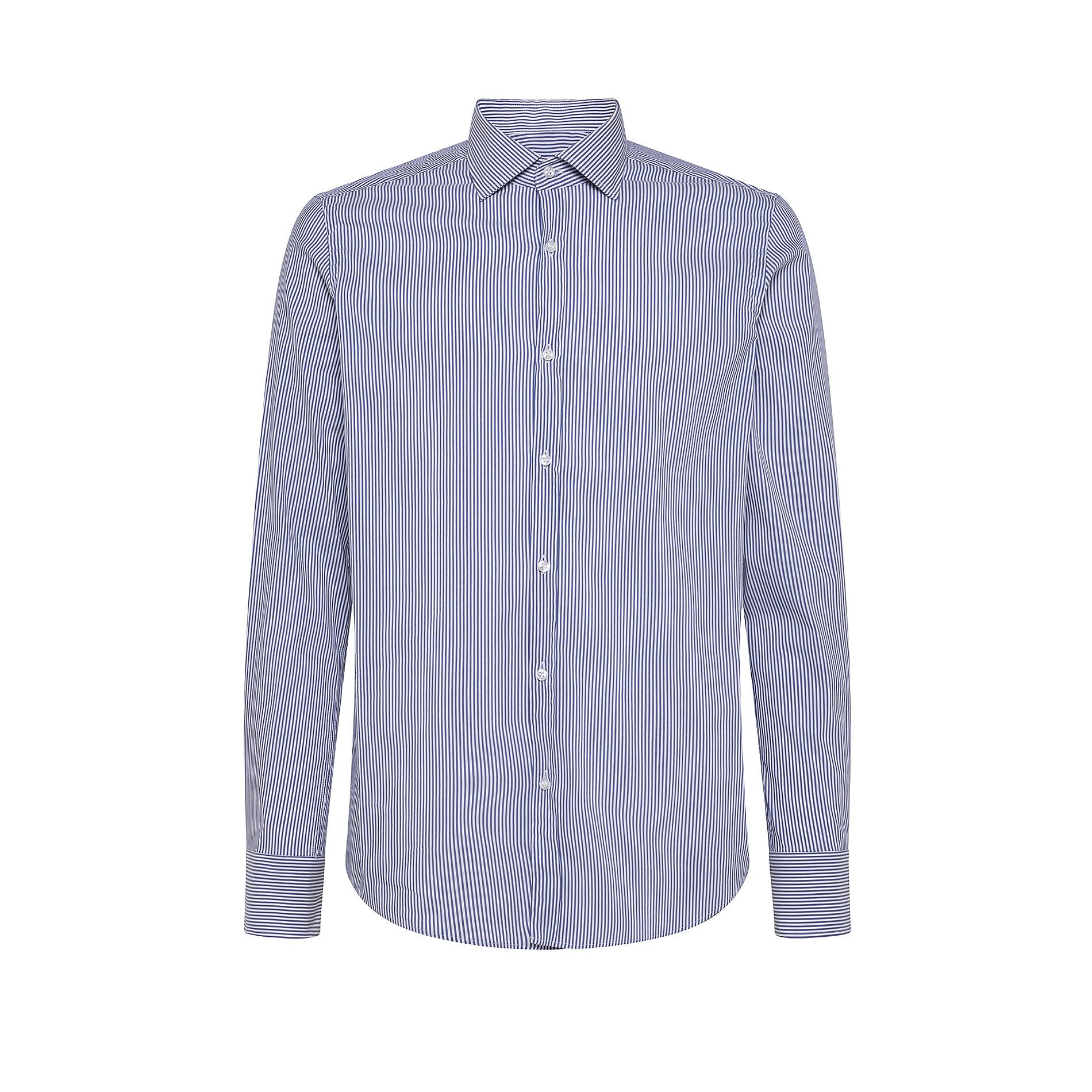 Camicia button-down popeline di cotone, Azzurro polvere, large image number 0