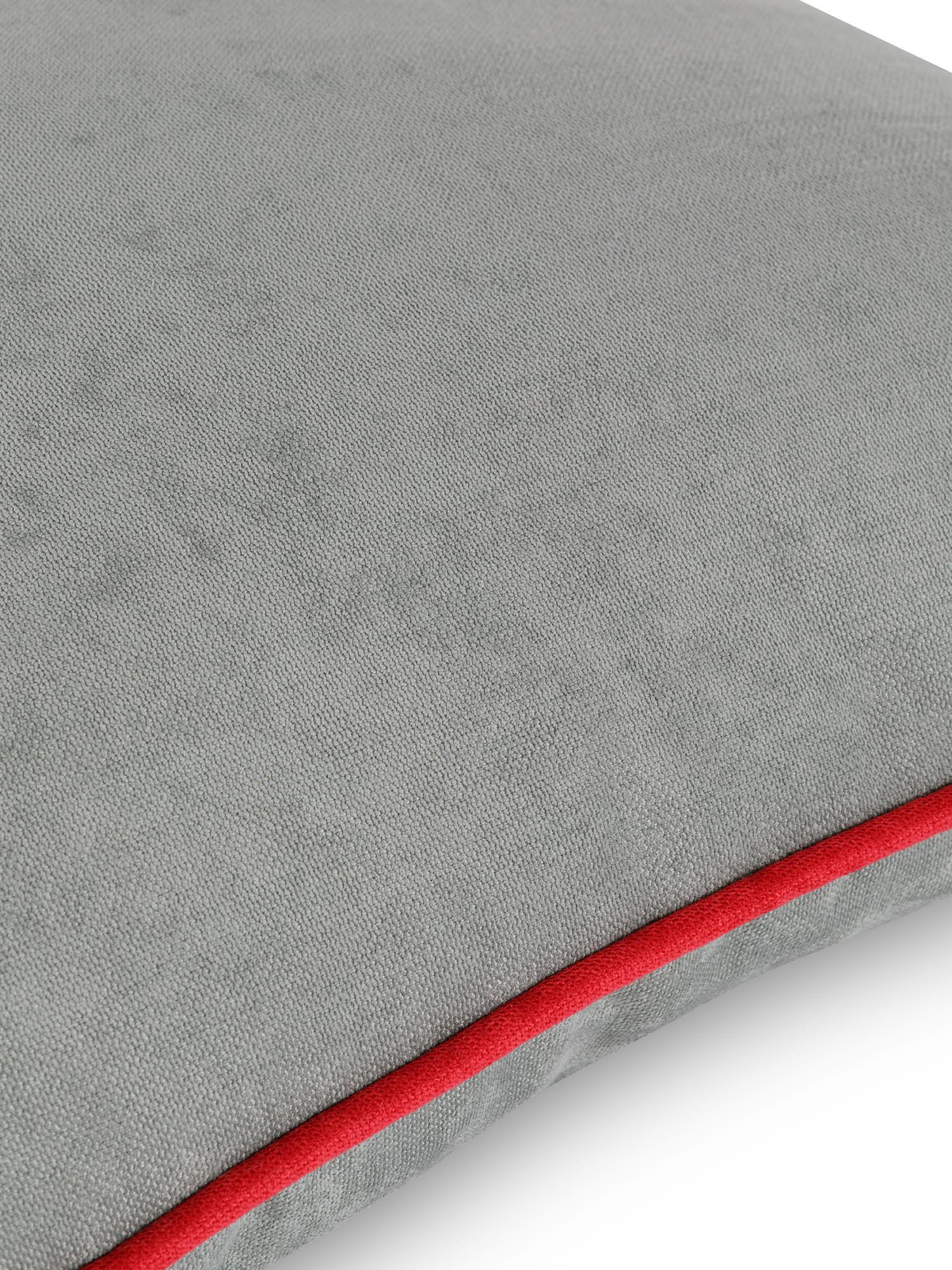 Cuscino tessuto effetto mélange 50x50cm, Grigio, large image number 2