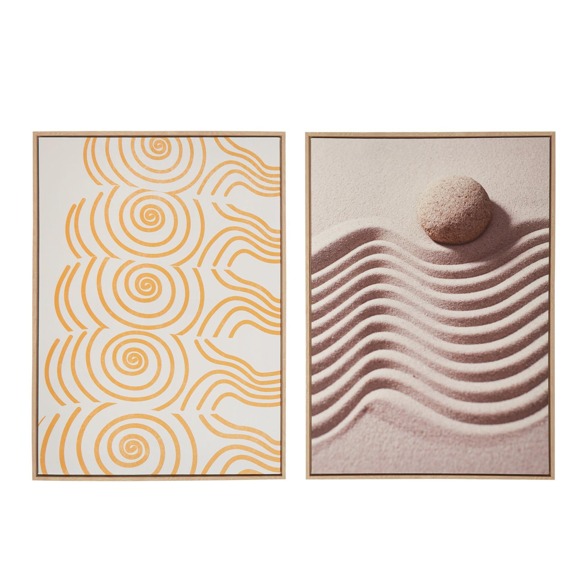 Tela con stampa fotografica sabbia, Multicolor, large image number 0