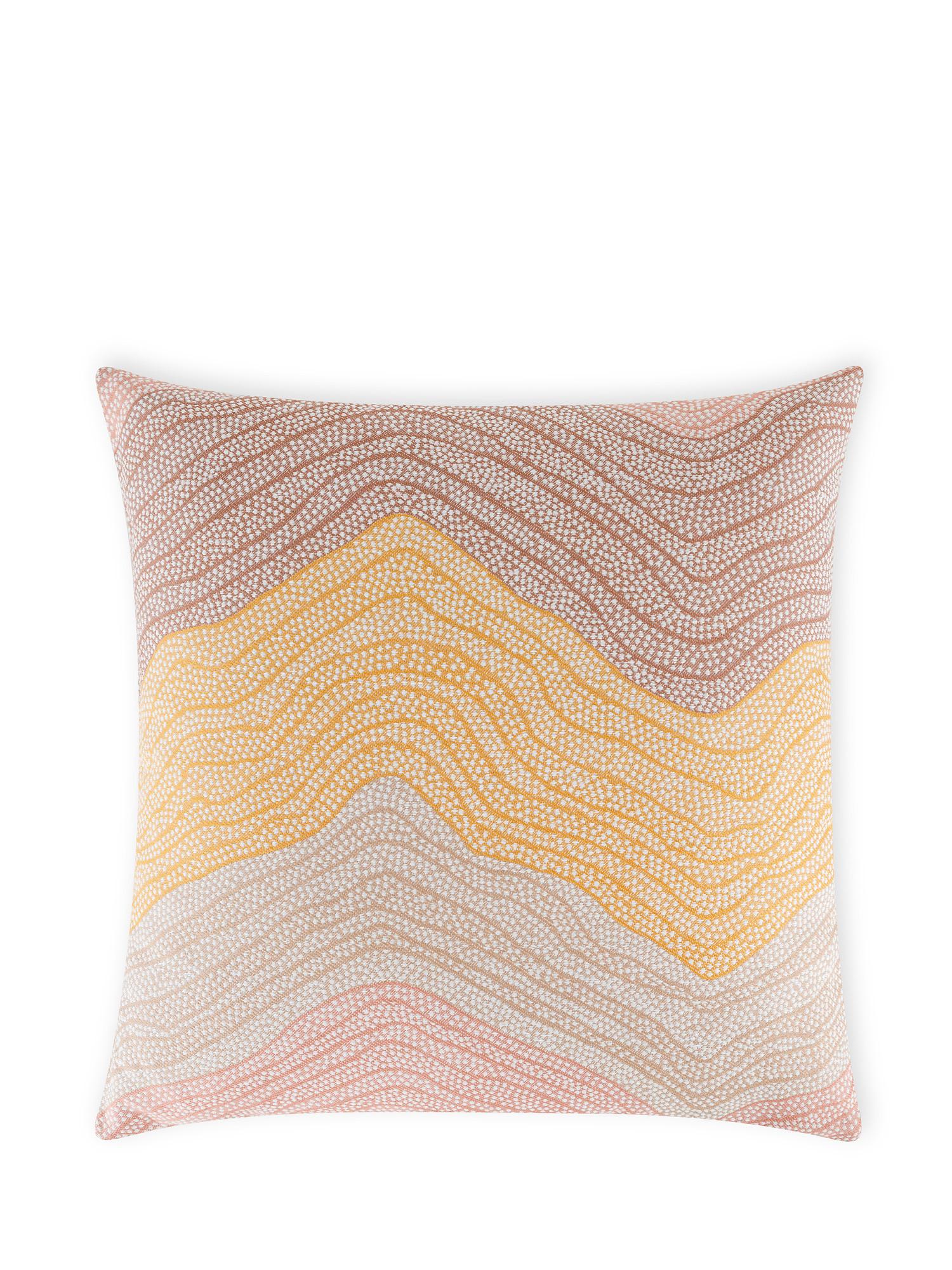 Cuscino tessuto jacquard spalmato 43x43cm, Multicolor, large image number 1