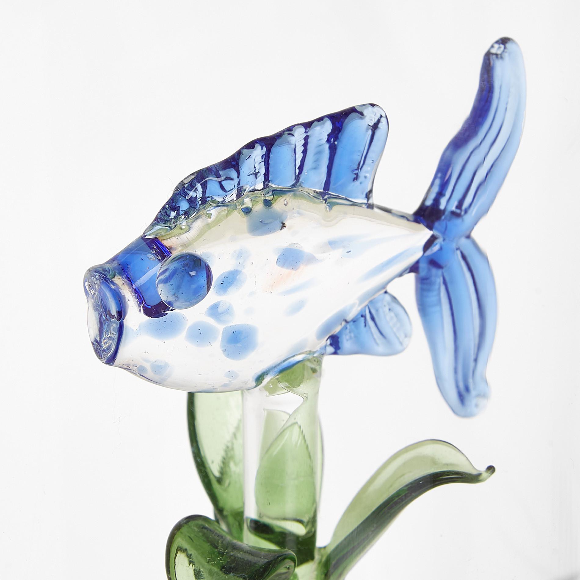 Bicchiere vetro dettaglio pesciolino, Trasparente, large image number 1