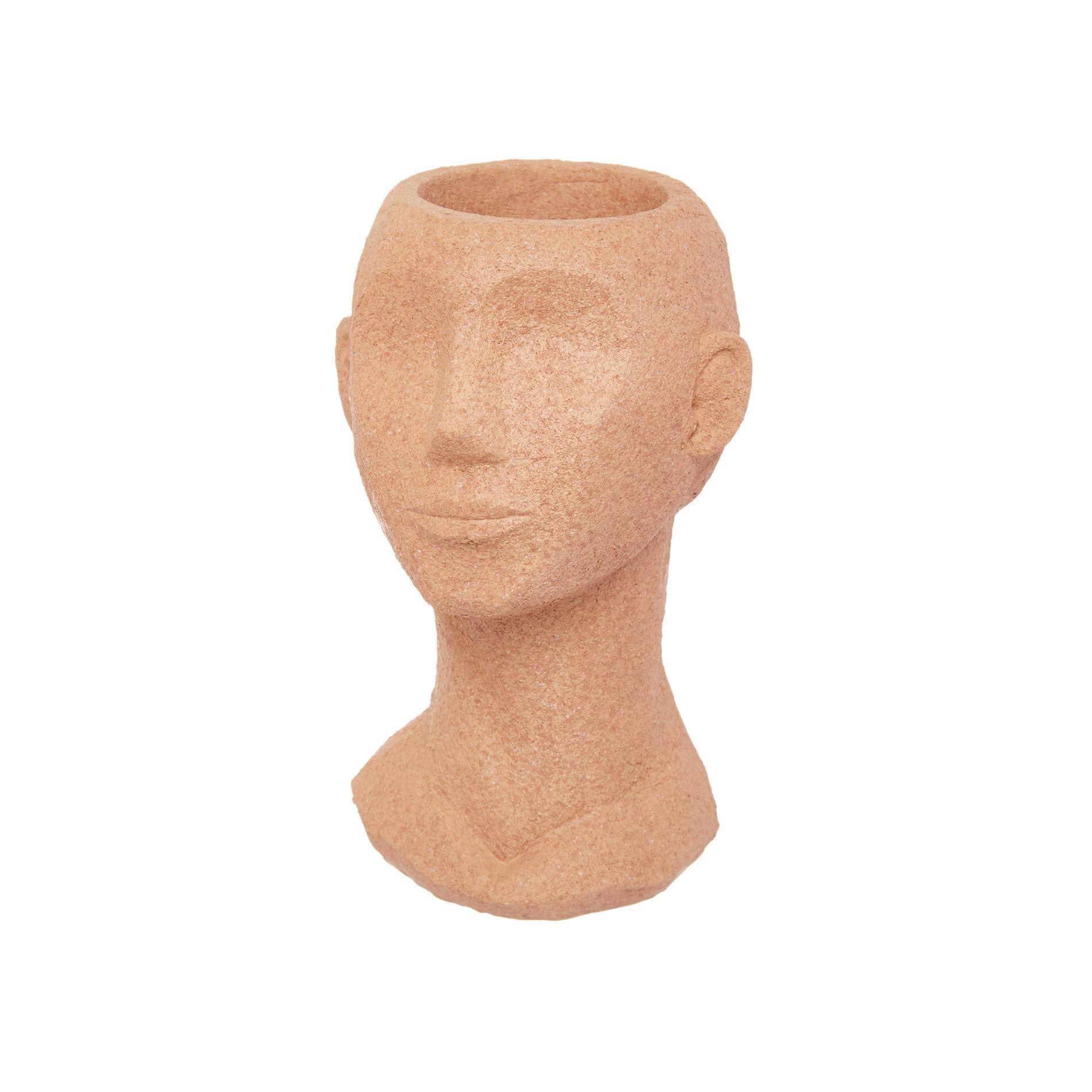 Vaso testa di donna rifinito a mano, Bianco, large image number 0