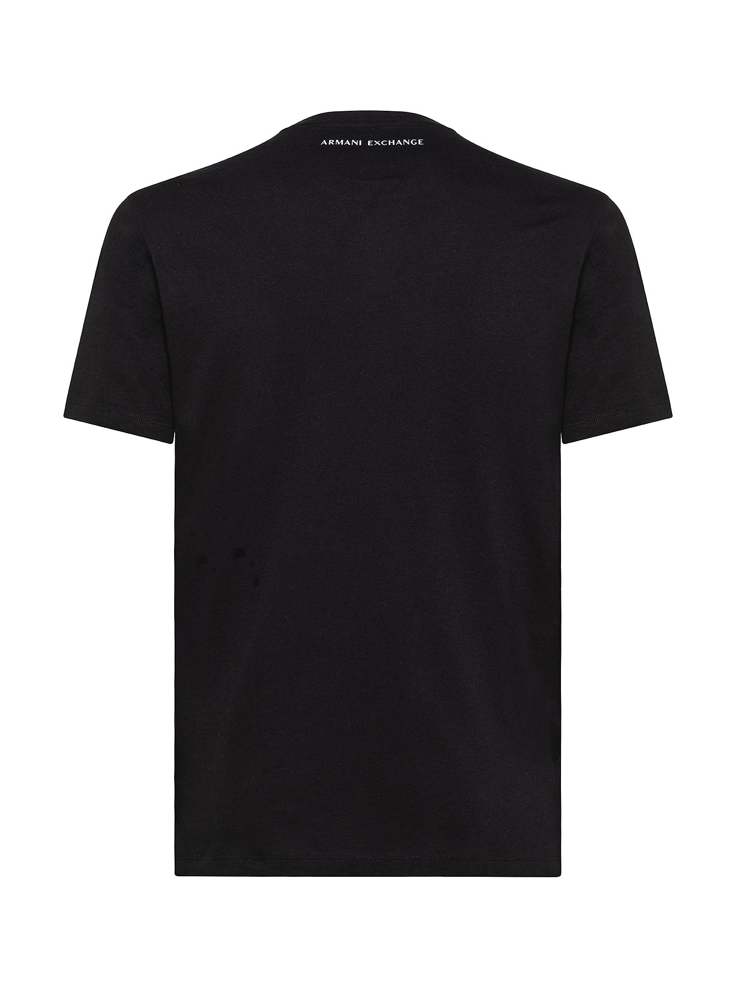 T-Shirt in cotone riciclato, Nero, large image number 1