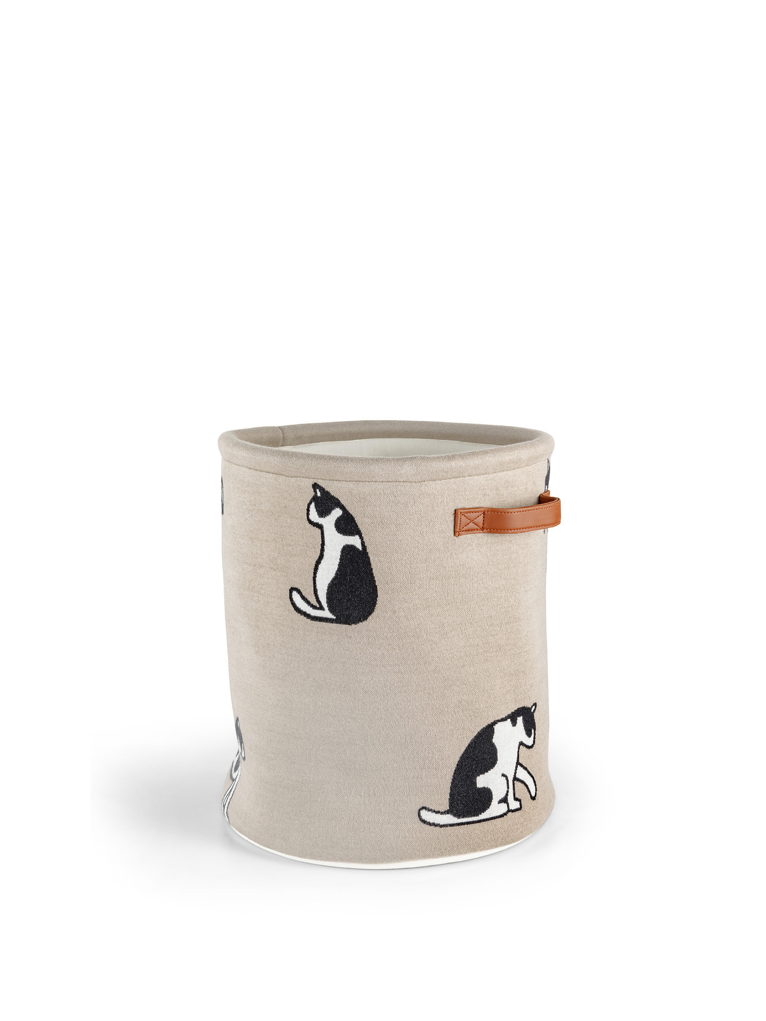 Cesto storage motivo gatti, Beige chiaro, large image number 3