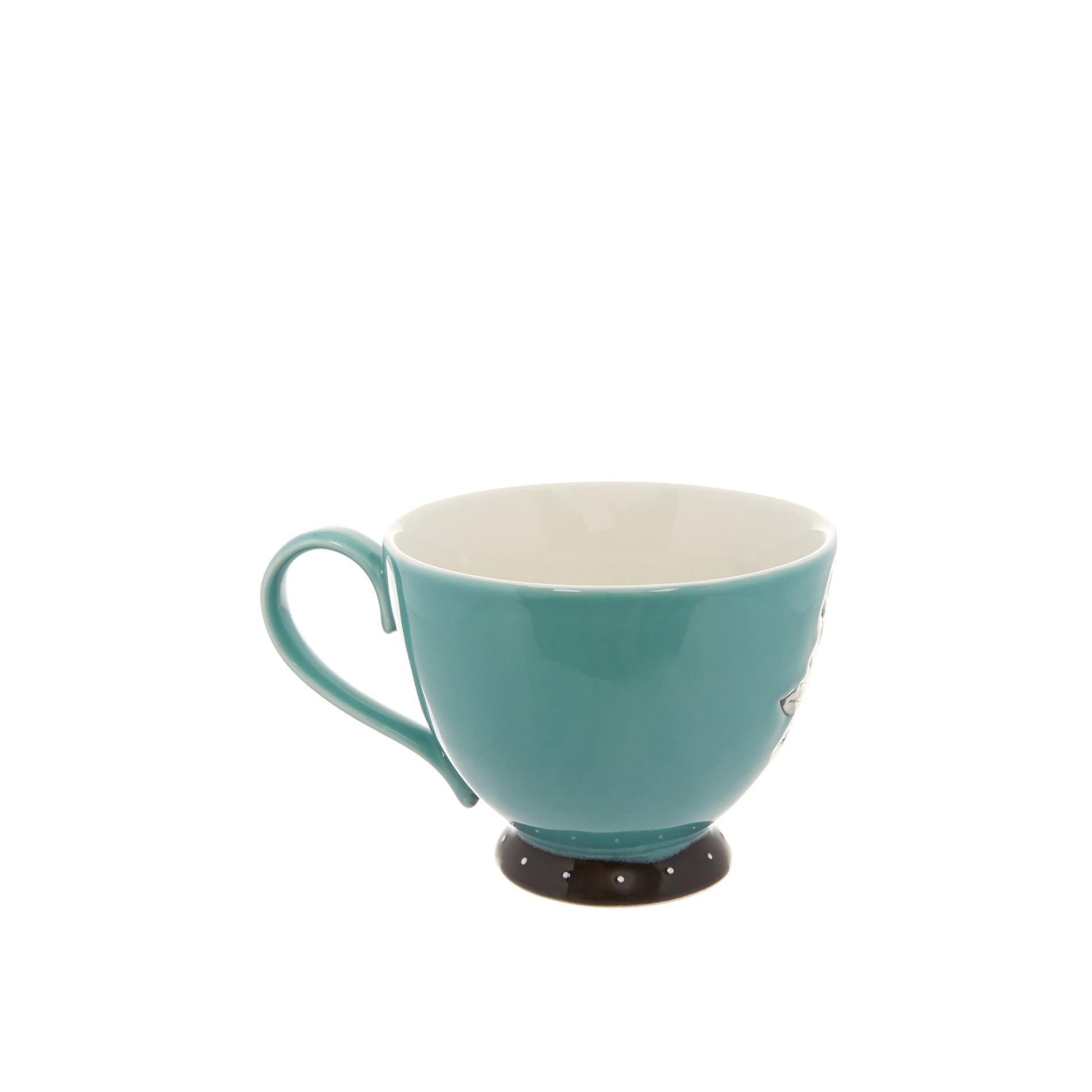 Tazza da colazione stoneware dipinta a mano, Multicolor, large image number 1